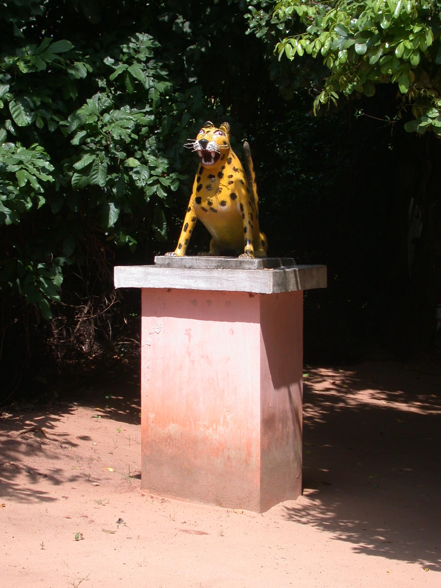 Jaguar Sculpture, Kpasse Sacred Forest, Ouidah, Benin