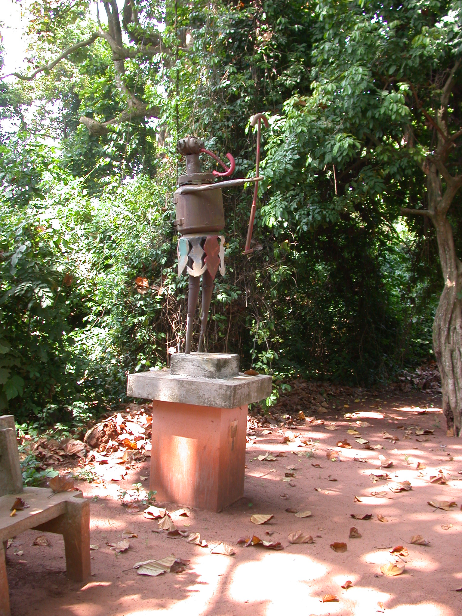 Xeviosso Spirit of Thunder and Lightning Sculpture, Kpasse Sacred Forest, Ouidah, Benin