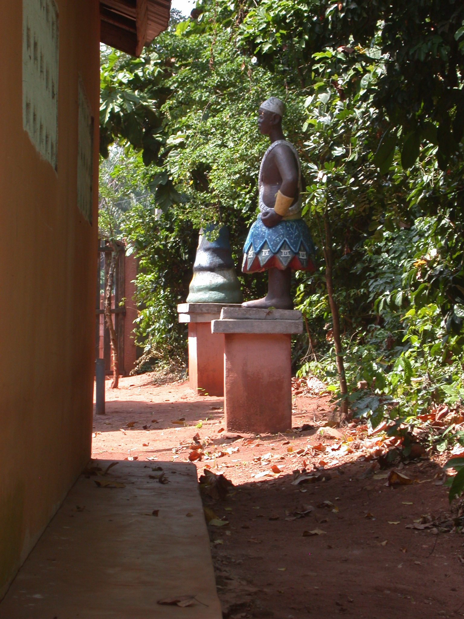 View Past Right Side of Shrine House, Kpasse Sacred Forest, Ouidah, Benin