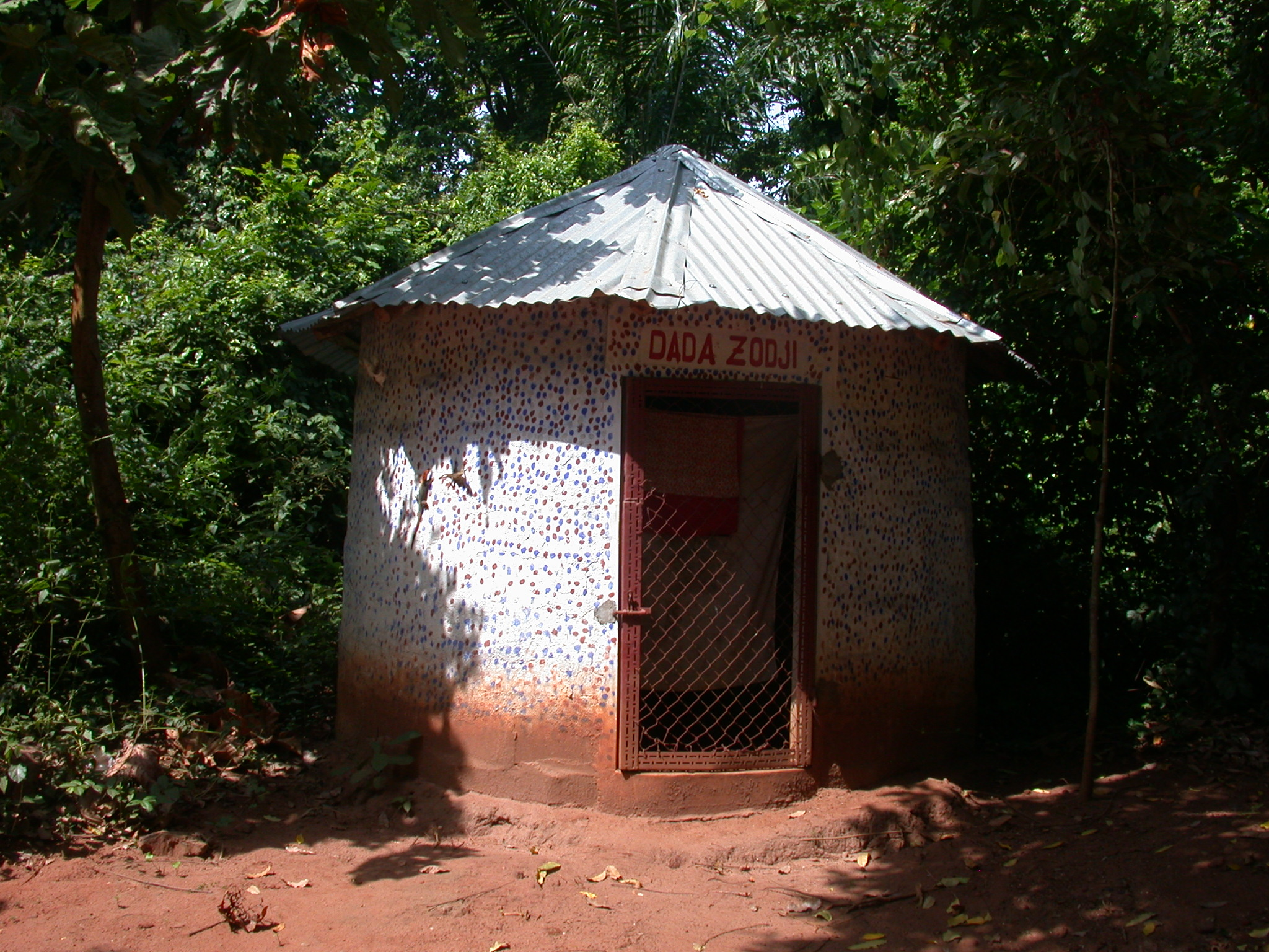 Shrine to Dada Zodji, God of Smallpox and Twin Son of Mawu-Lisa, Kpasse Sacred Forest, Ouidah, Benin