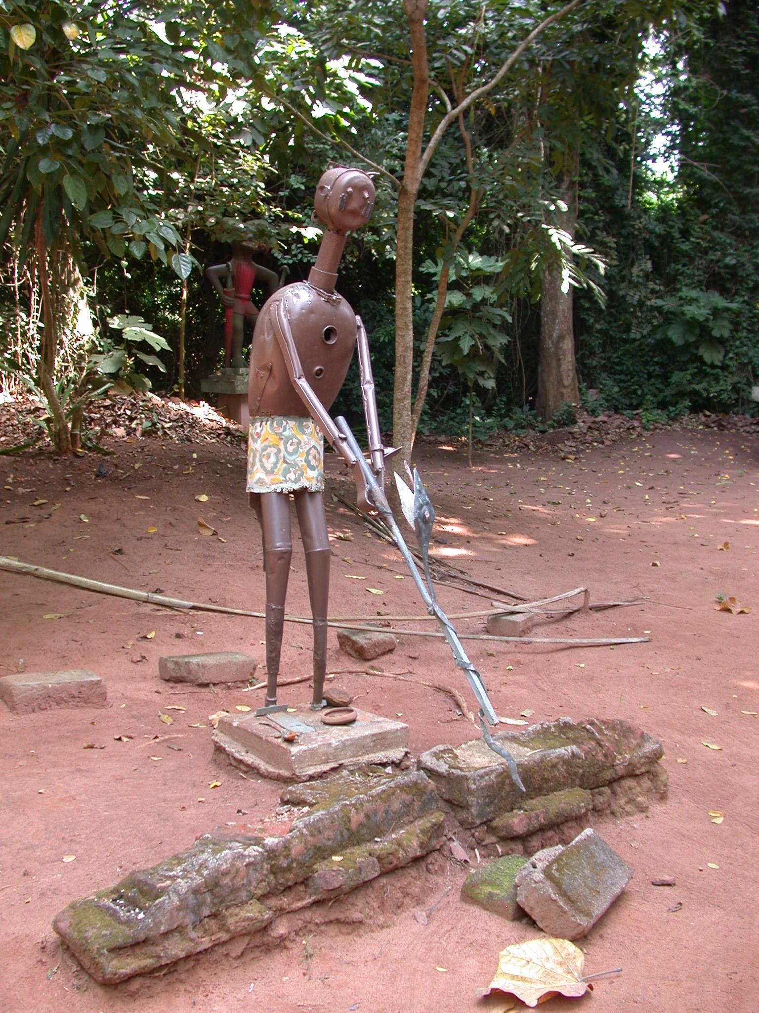 Sculpture, Kpasse Sacred Forest, Ouidah, Benin