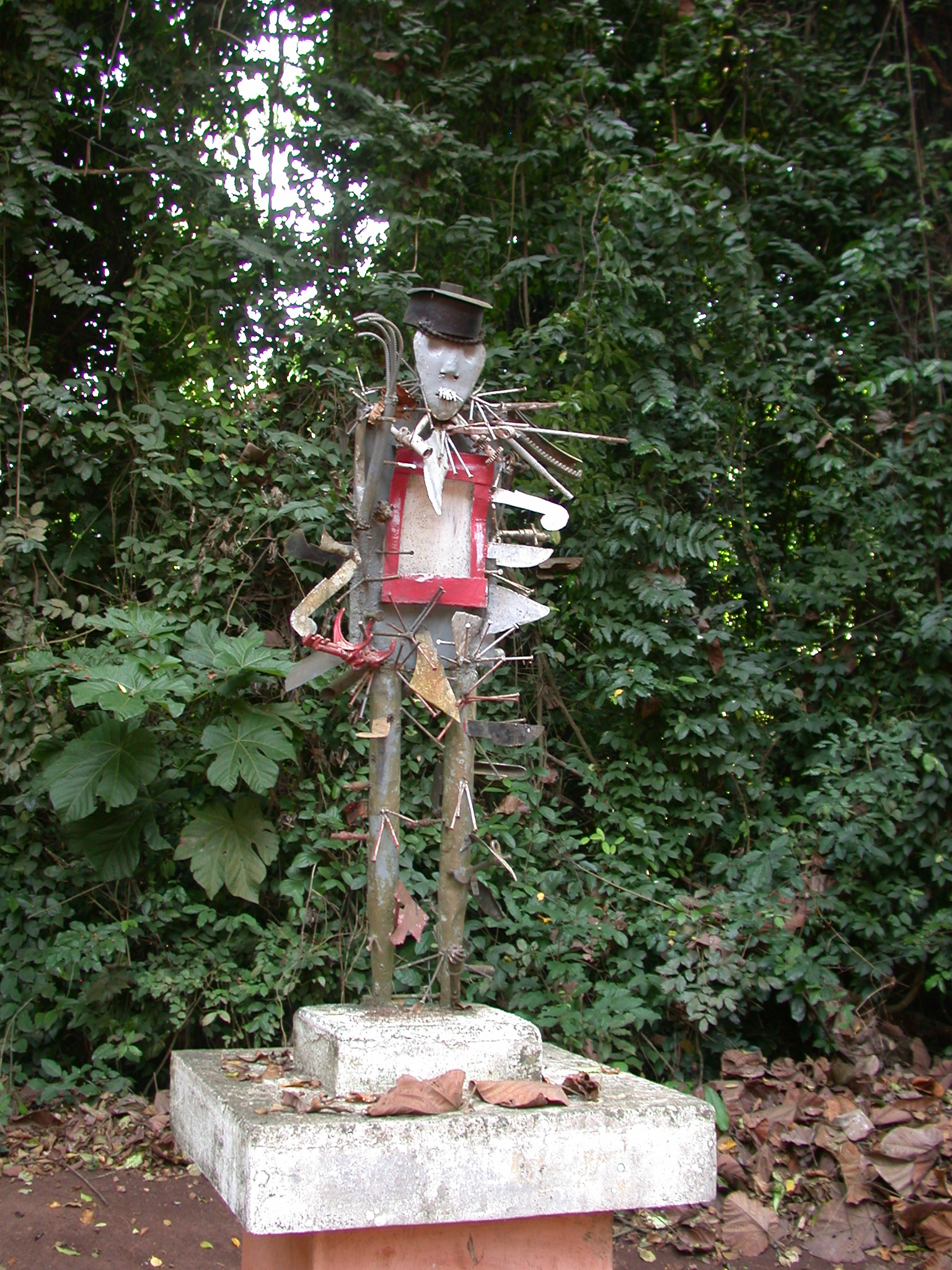 Sculpture Personifying Vodun Force Called Cakatu, Kpasse Sacred Forest, Ouidah, Benin