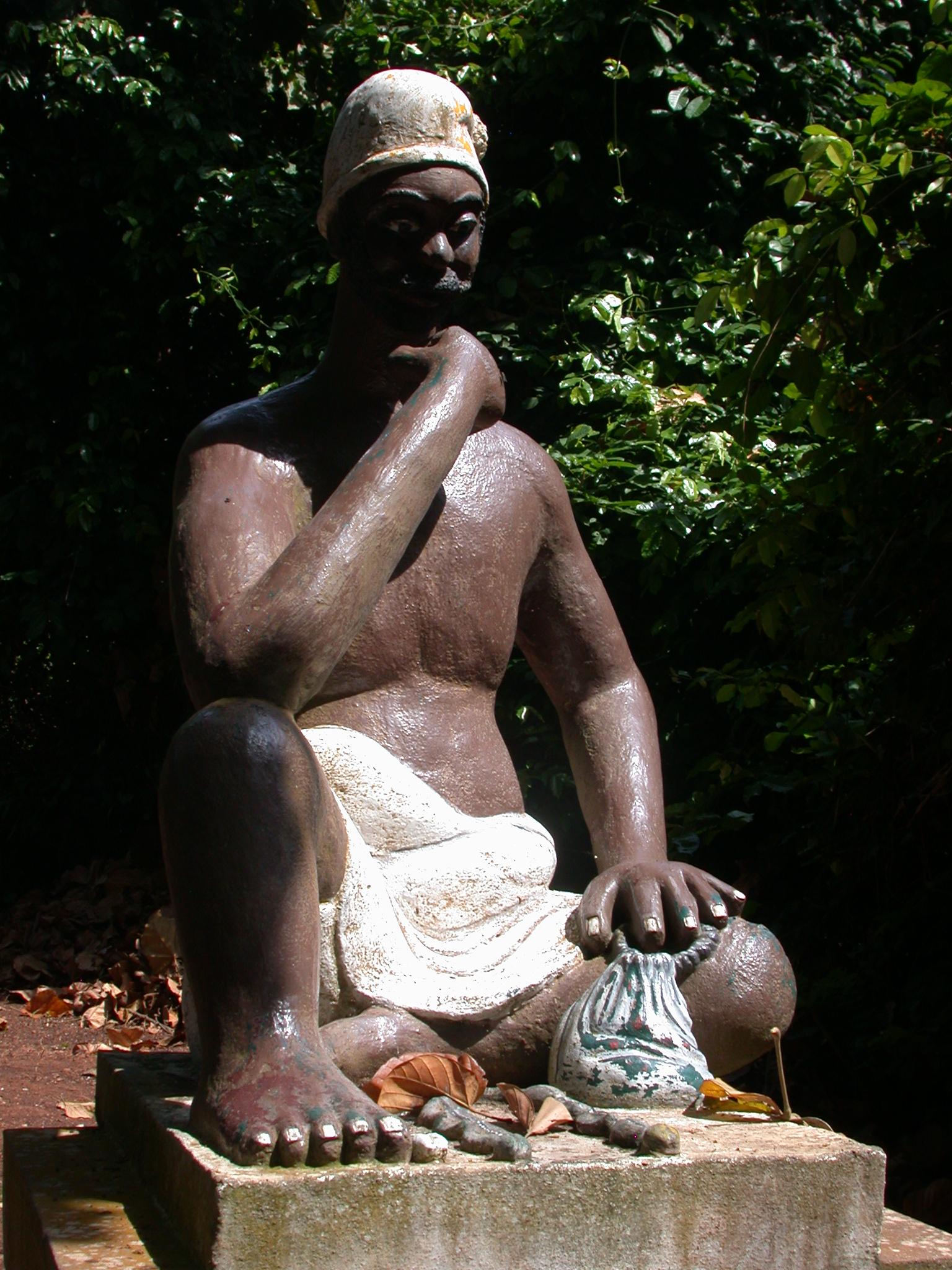 Bokonon Fa Diviner Sculpture, Kpasse Sacred Forest, Ouidah, Benin