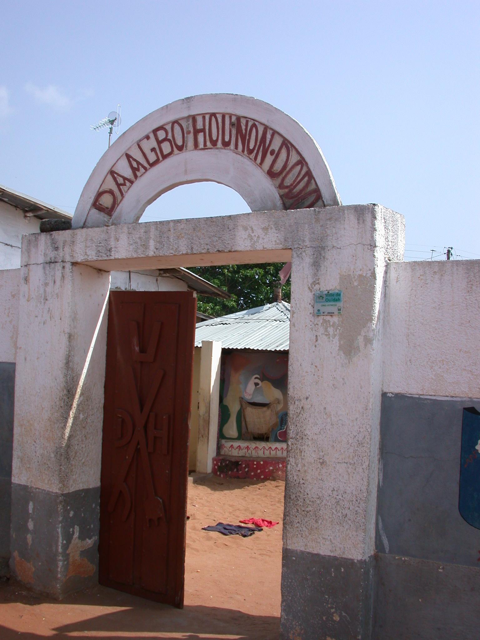 Entrance to Daagbo Hounon Dodo Palace, Ouidah, Benin