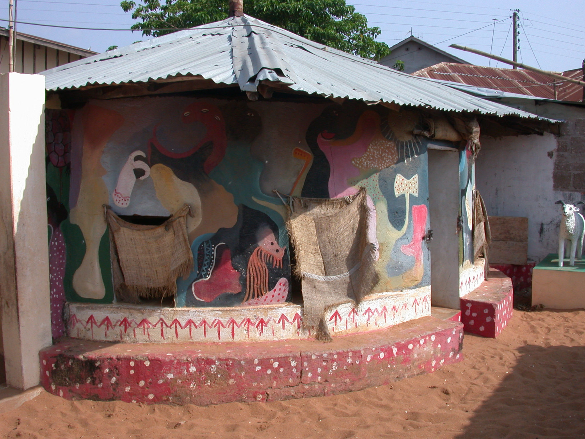 Decorated Interior Structure, Daagbo Hounon Dodo Palace, Ouidah, Benin