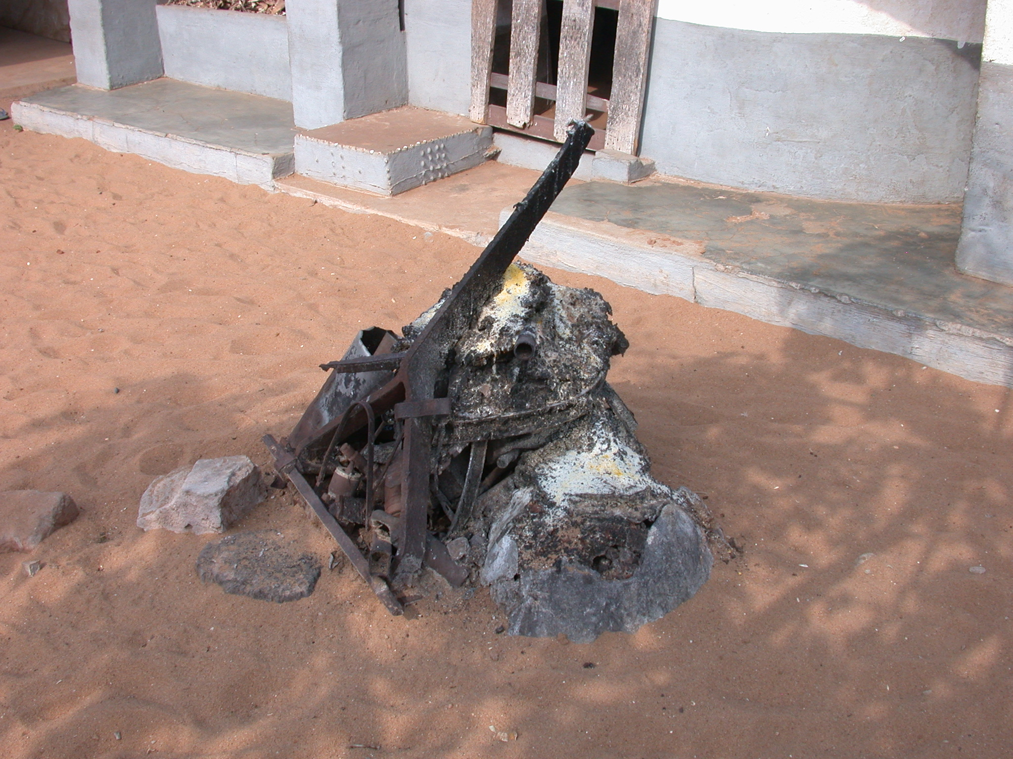 Iron Shrine, Daagbo Hounon Dodo Palace, Ouidah, Benin