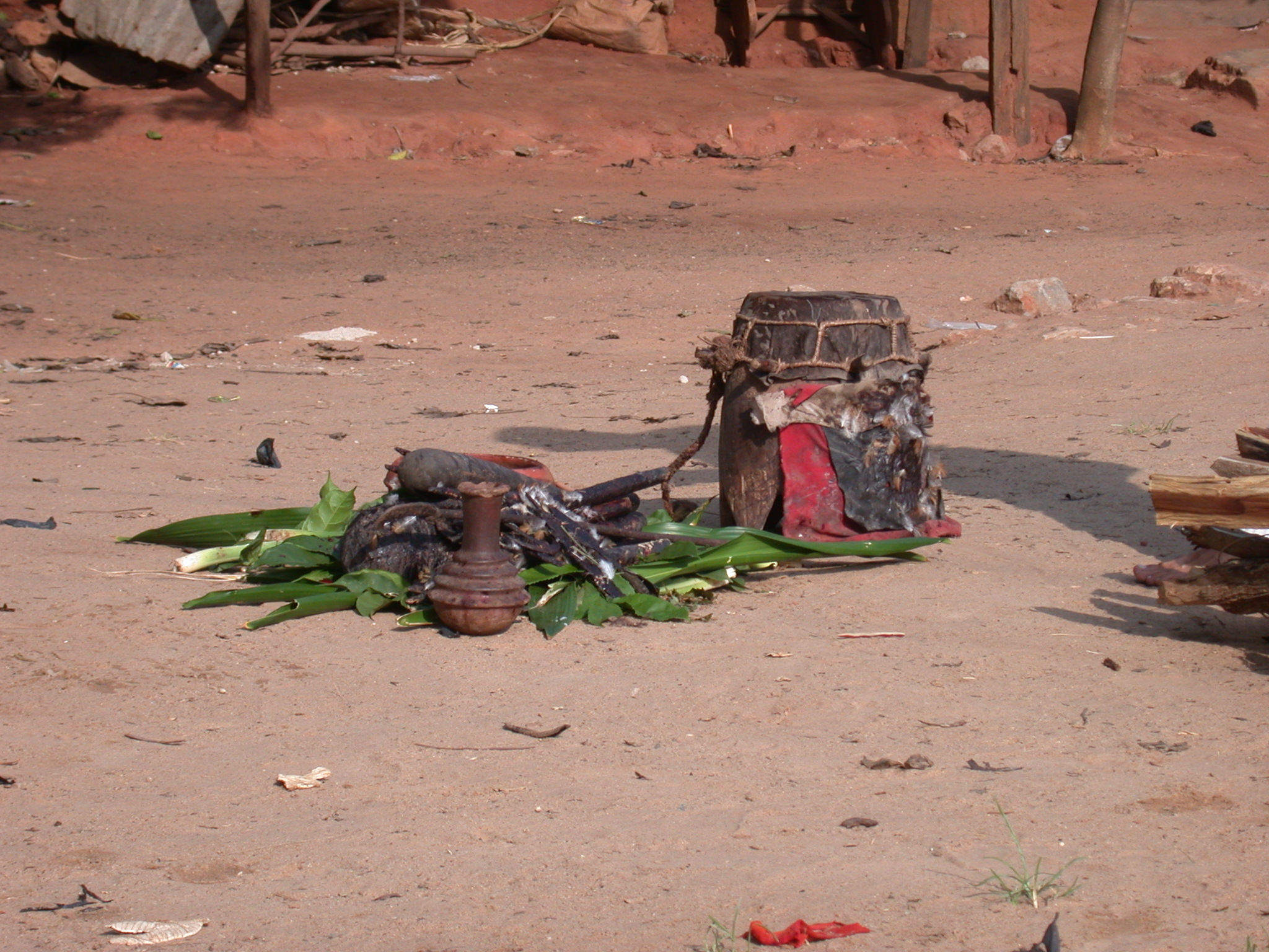Preparations for Vodun Ritual, Ouidah, Benin