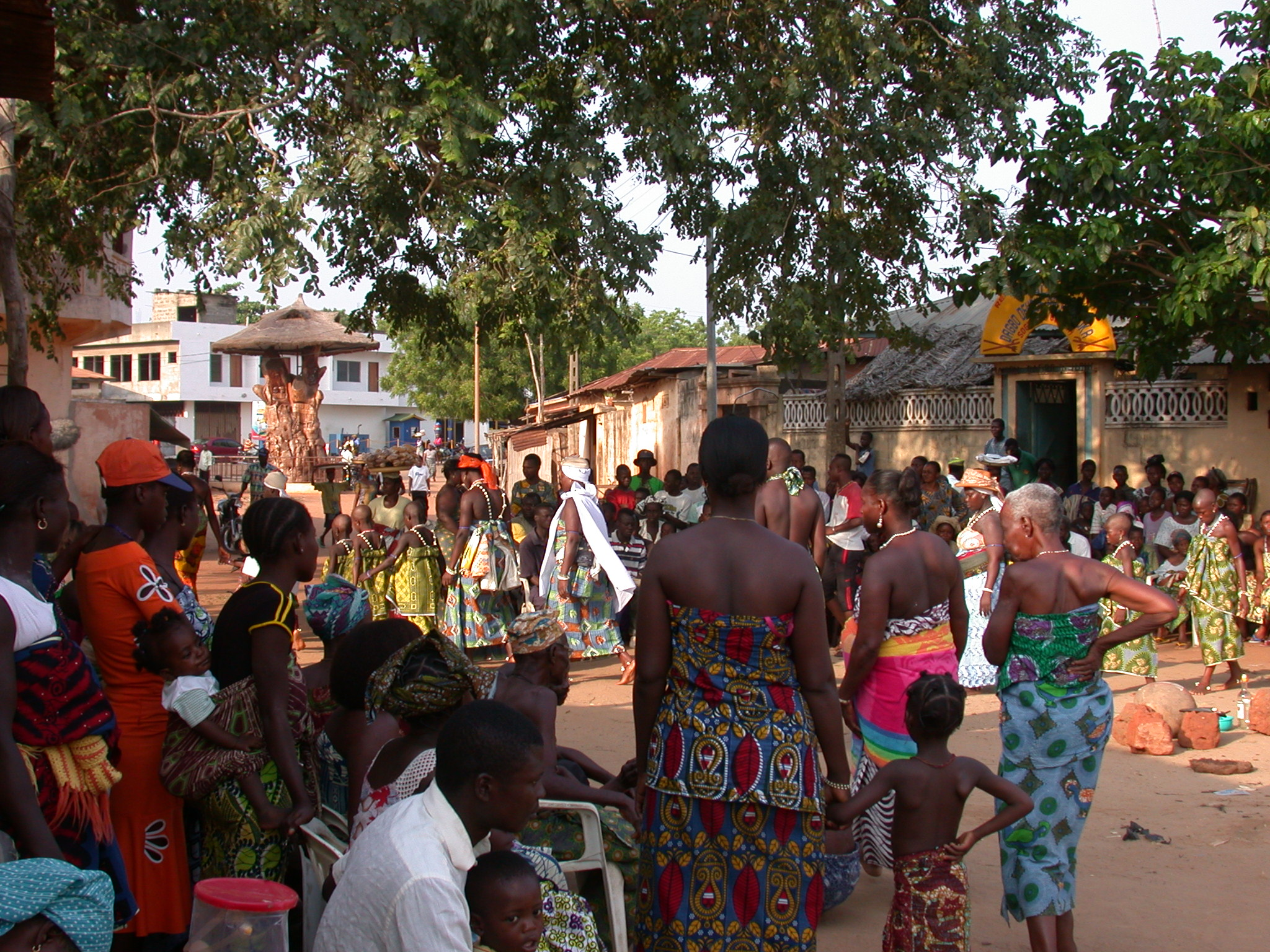 Crowd Gathering for Vodun Ritual, Ouidah, Benin