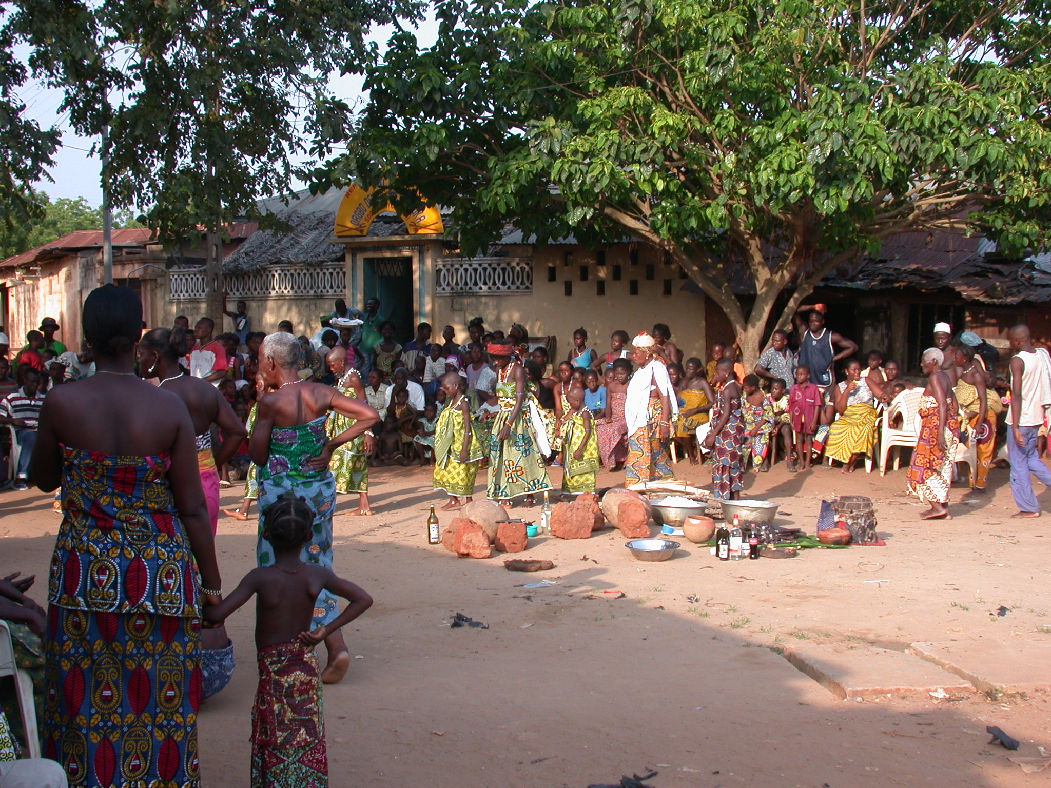 Vodun Ritual Starting With Procession of Initiates, Ouidah, Benin