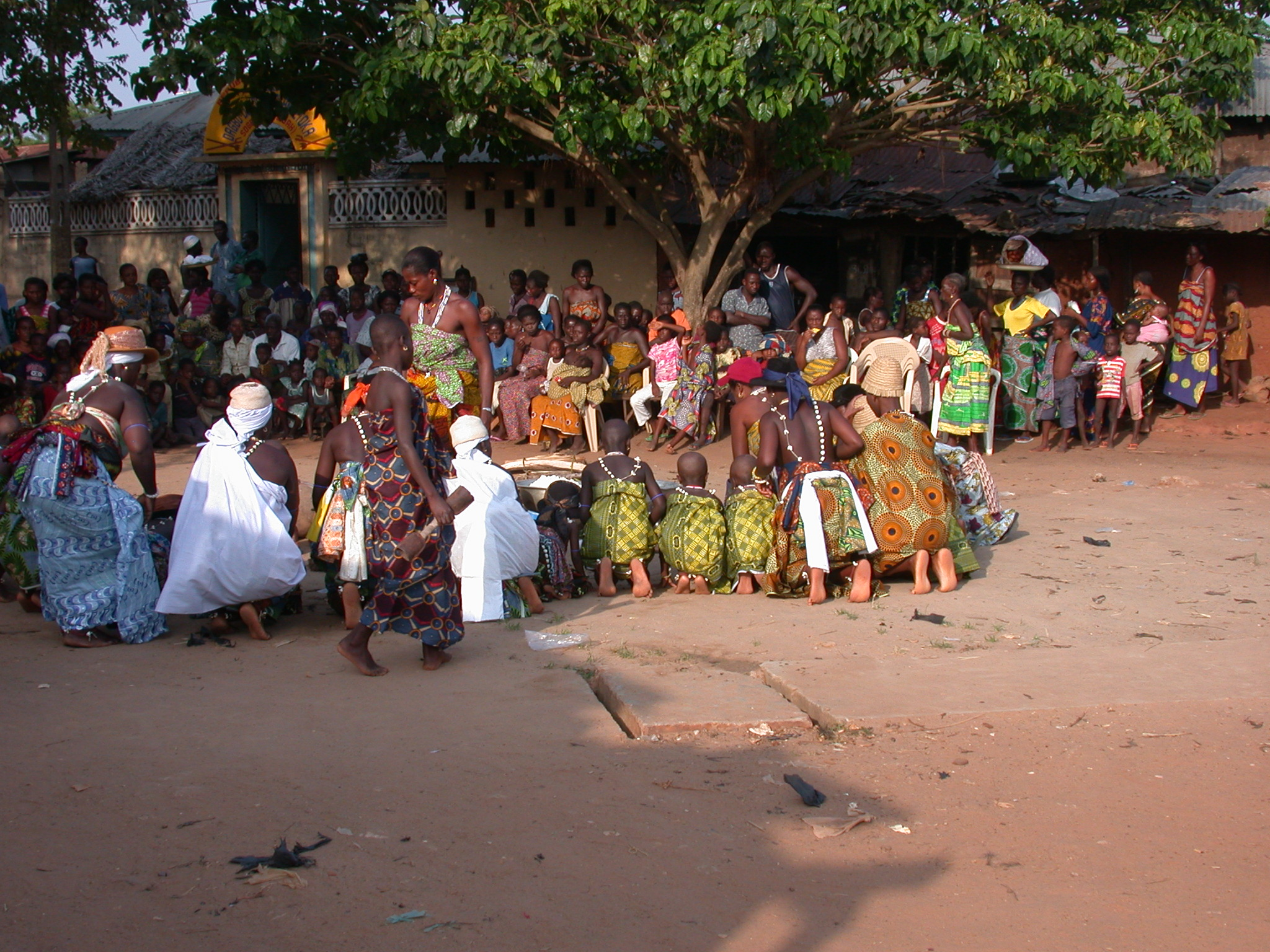 Bowing of Initiates, Vodun Ritual, Ouidah, Benin