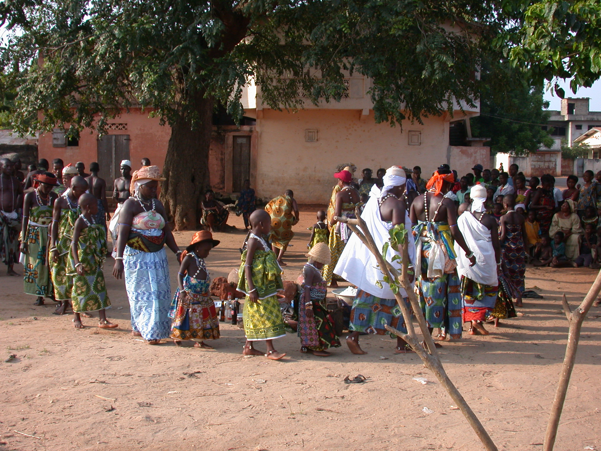 Procession of Initiatives, Vodun Ritual, Ouidah, Benin
