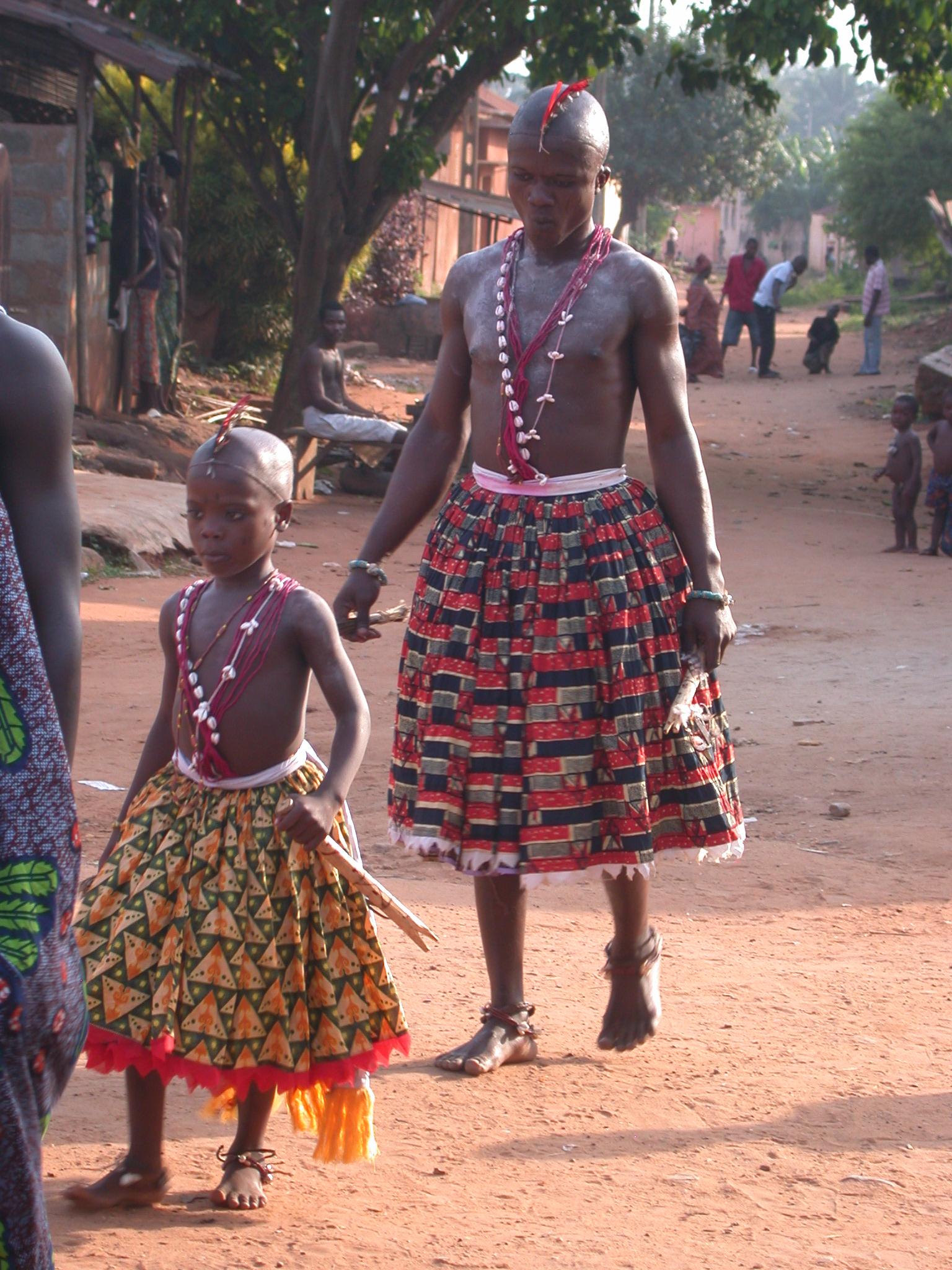 Gender-Bending Vodun Devotees, Vodun Ritual, Ouidah, Benin
