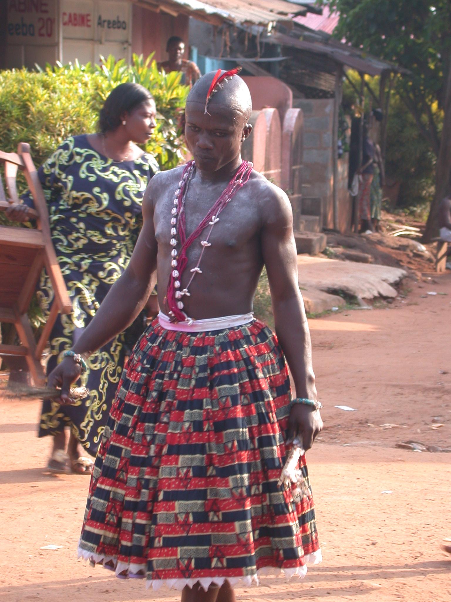 Gender-Bending Vodun Devotee, Vodun Ritual, Ouidah, Benin