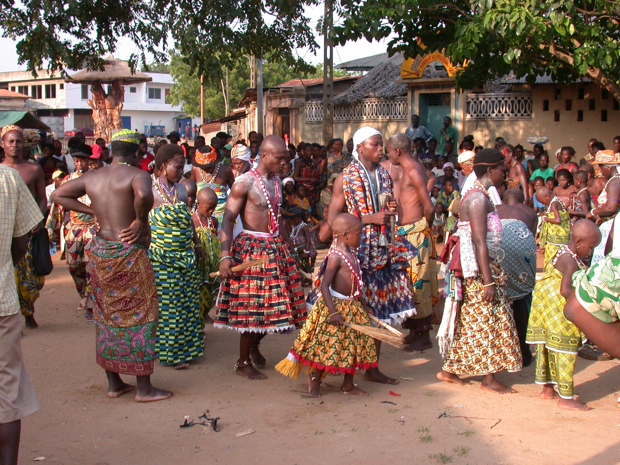 Gender-Bending Dancers, Vodun Ritual, Ouidah, Benin