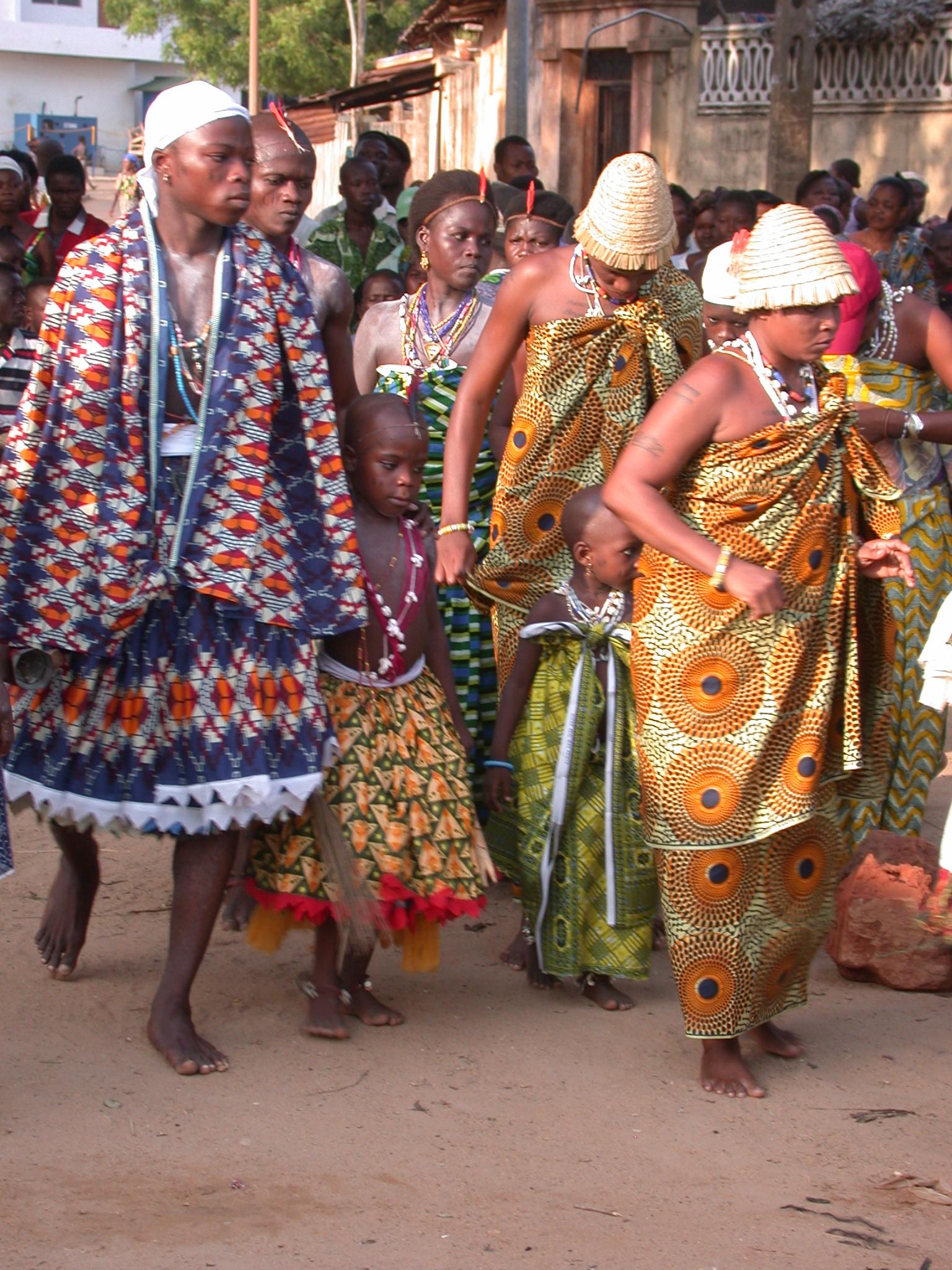 Devotees Dancing, Vodun Ritual, Ouidah, Benin