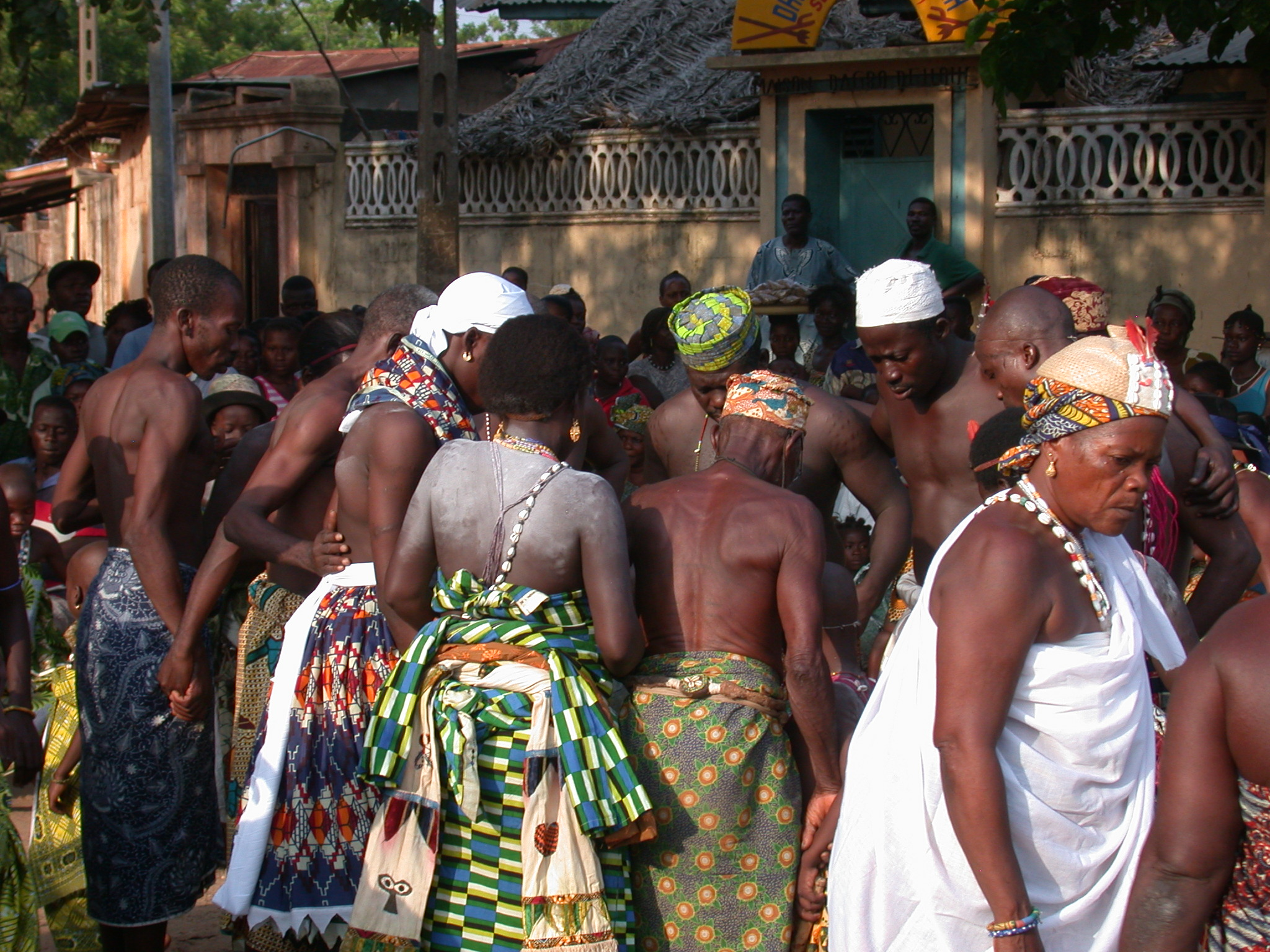 Prayer Before Sacrifice, Vodun Ritual, Ouidah, Benin