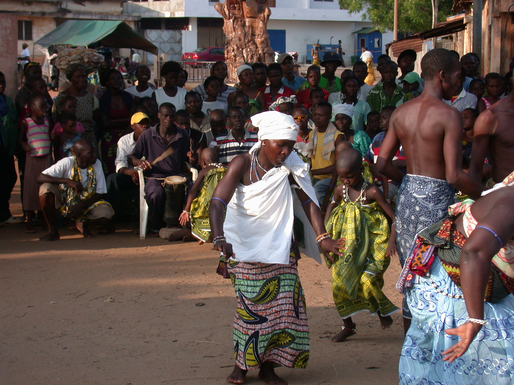 Dancing to the Drums, Vodun Ritual, Ouidah, Benin