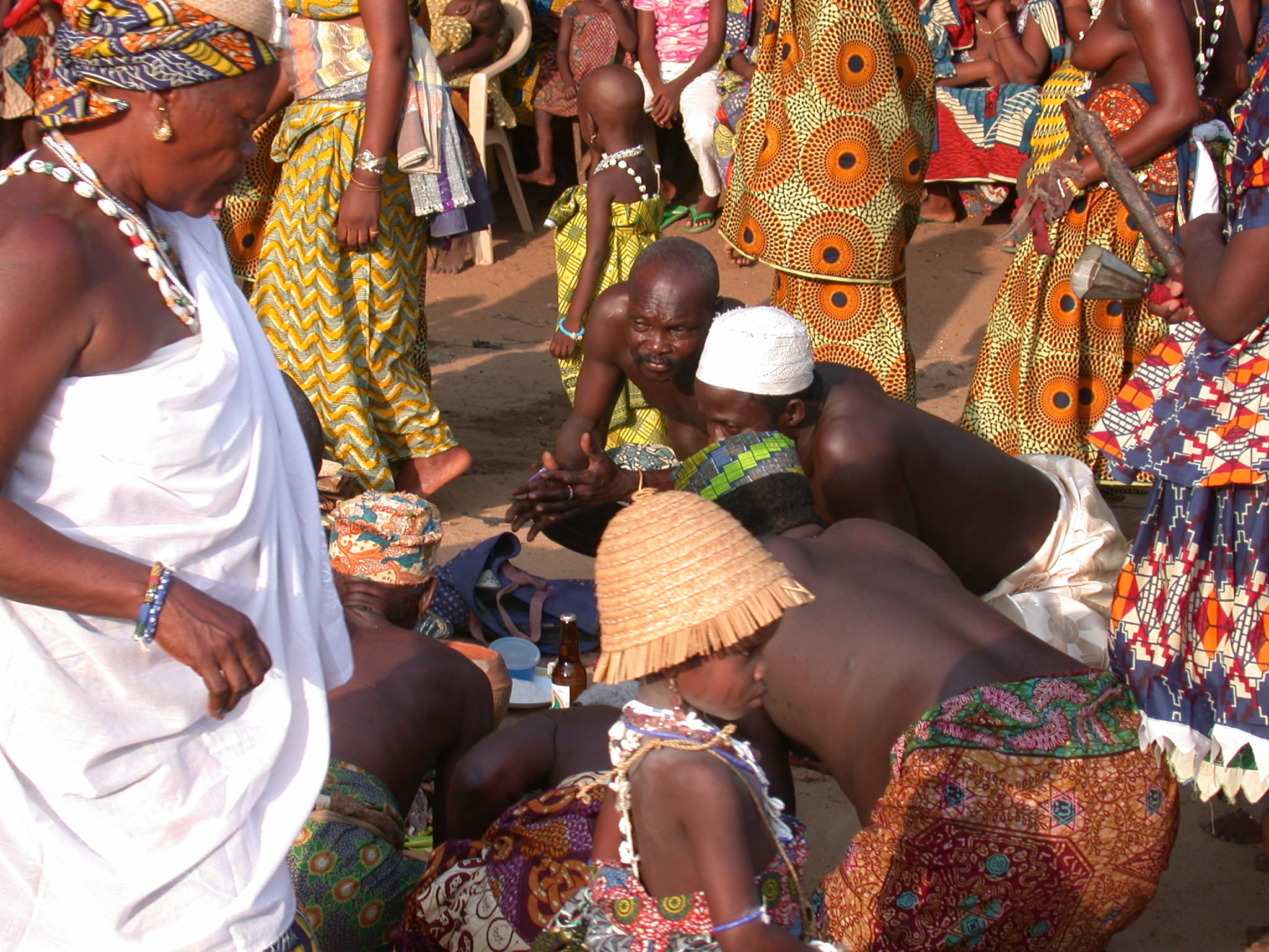 Preparing for Sacrifice, Vodun Ritual, Ouidah, Benin