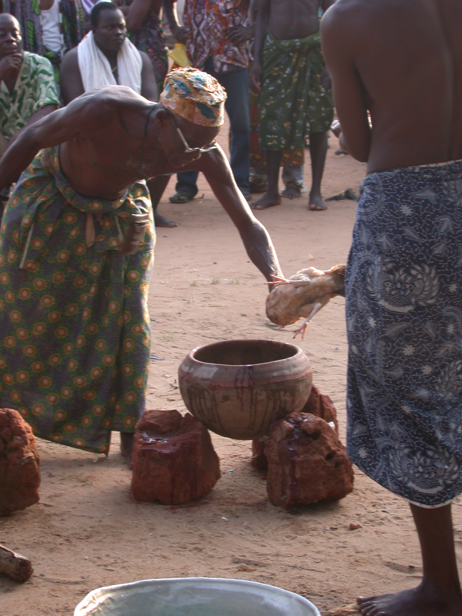 Sacrificing a Chicken, Vodun Ritual, Ouidah, Benin