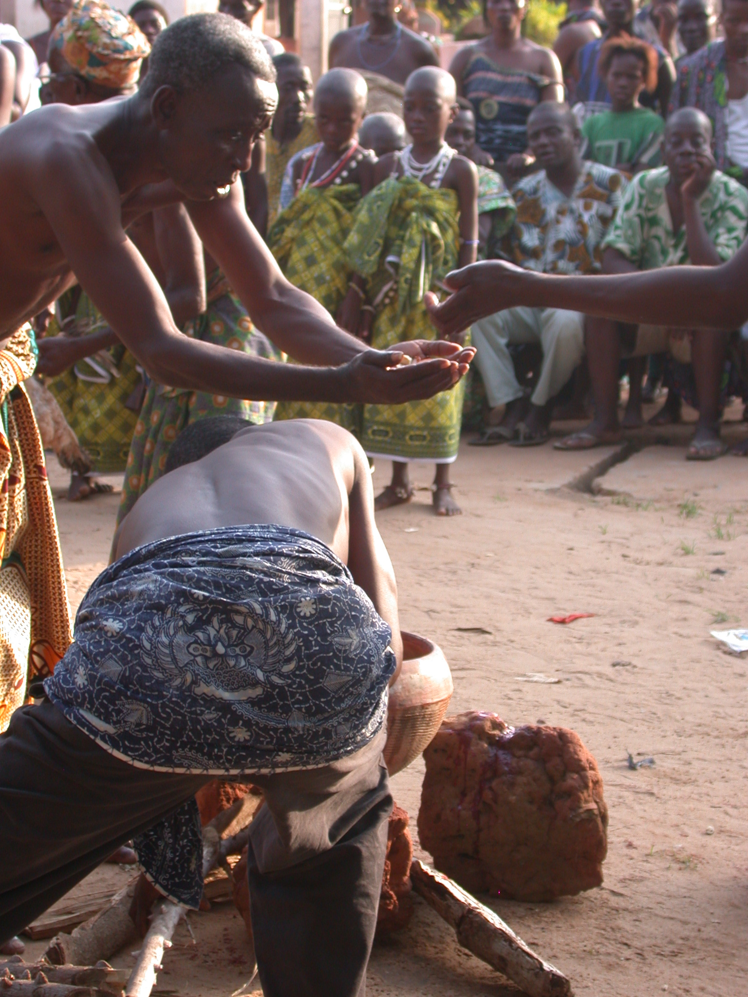 Seasoning and Cooking the Sacrificial Meat, Vodun Ritual, Ouidah, Benin