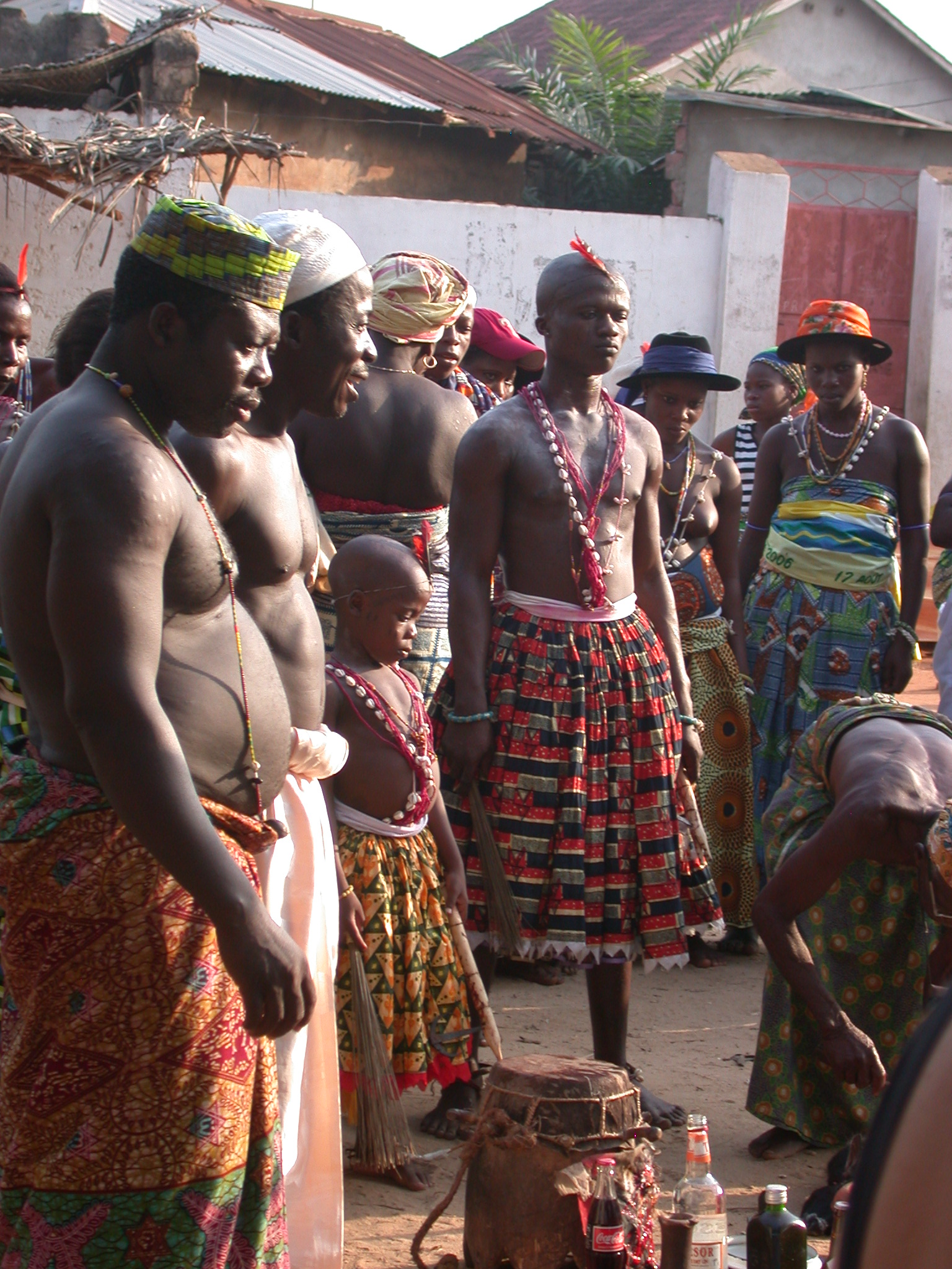 Observing the Sacrifice, Vodun Ritual, Ouidah, Benin