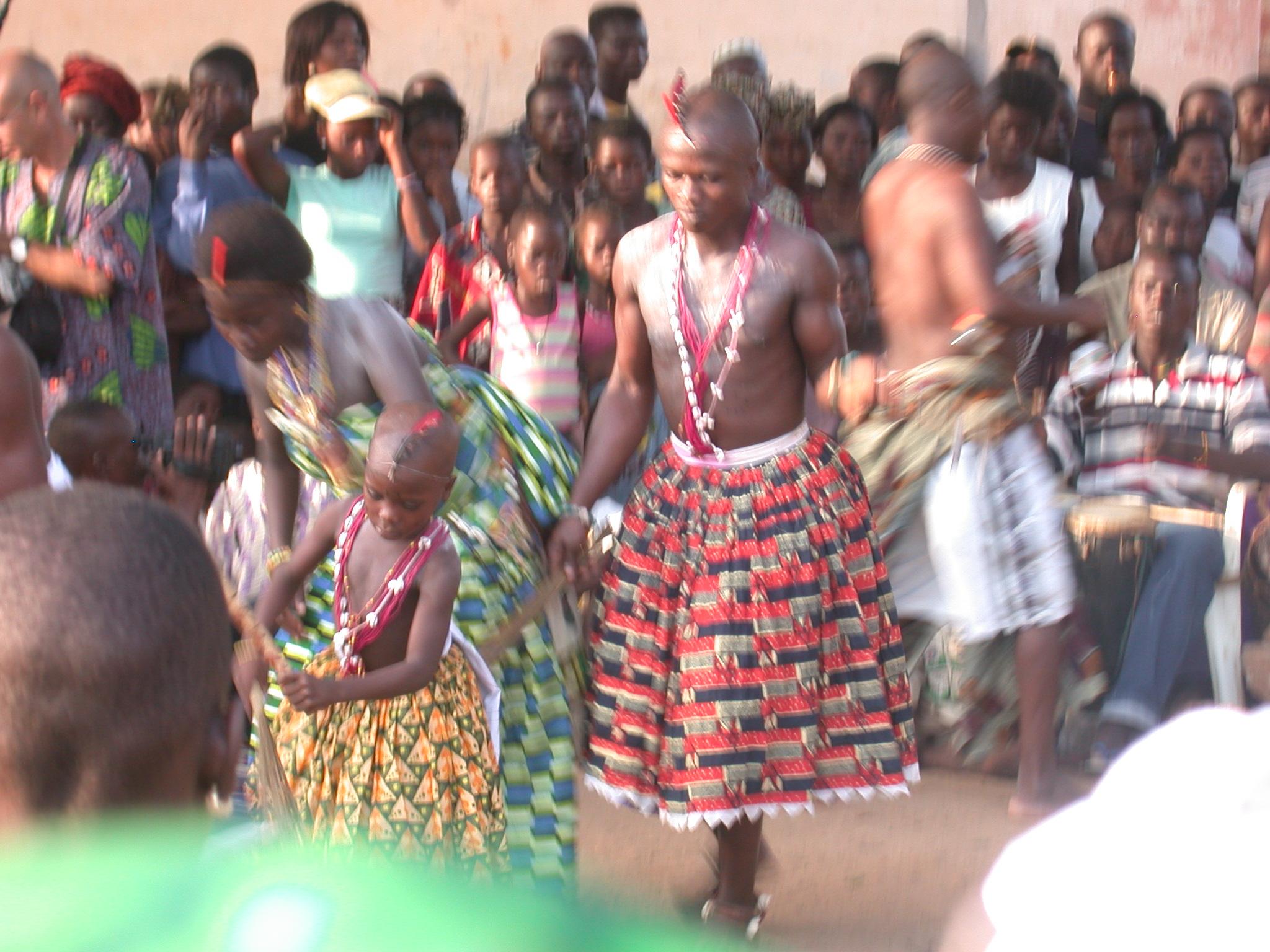 Devotees Continue Dancing, Vodun Ritual, Ouidah, Benin