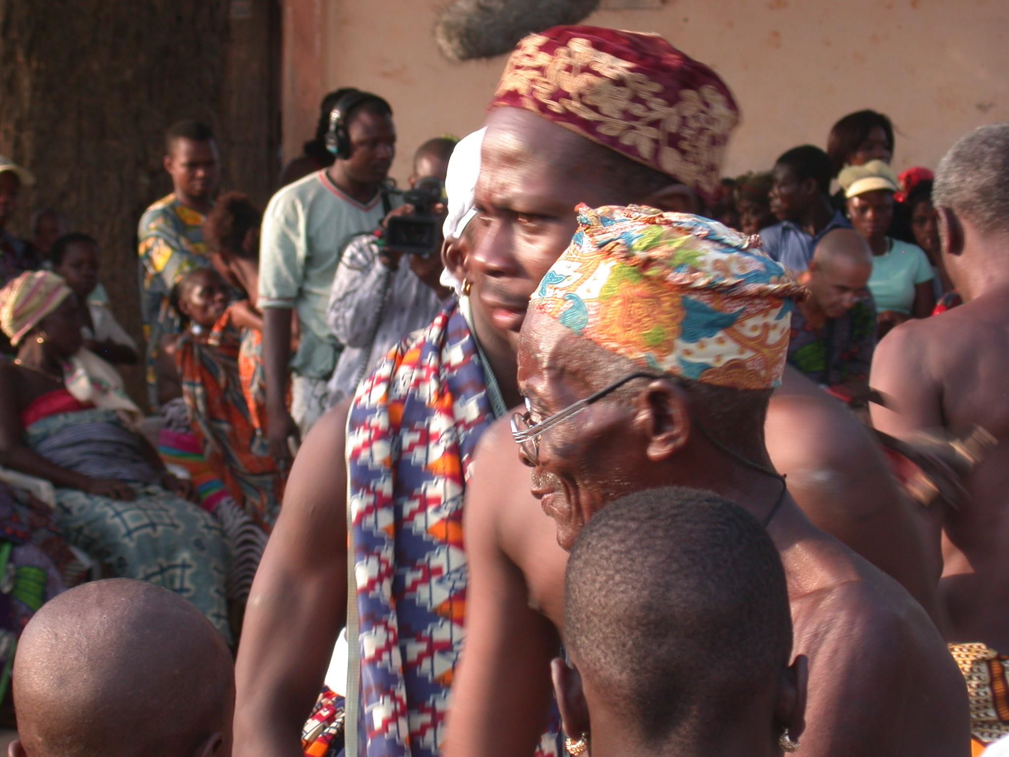 Elders Observe Vodun Ritual, Ouidah, Benin