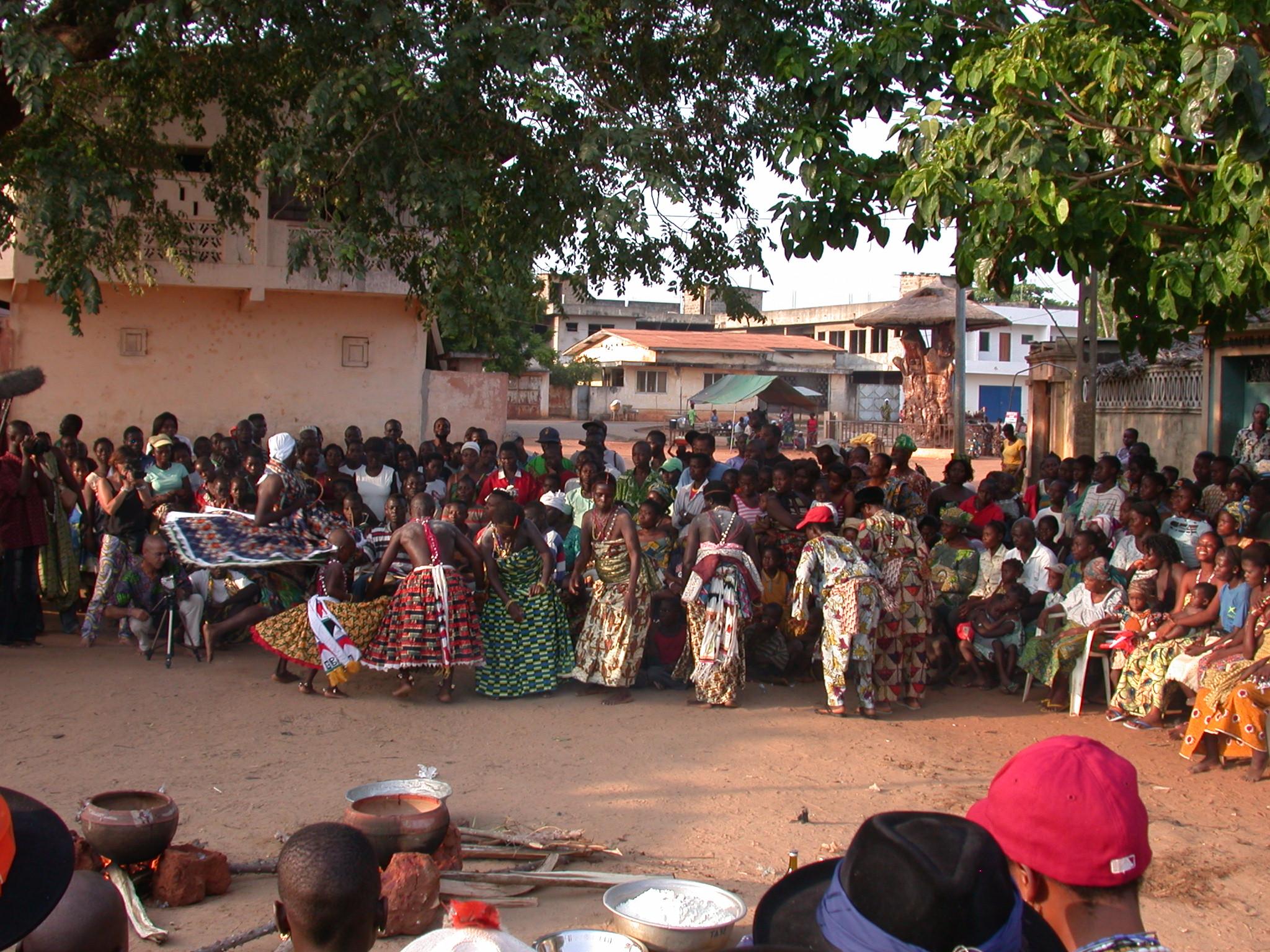 Initiates Dancing, Vodun Ritual, Ouidah, Benin