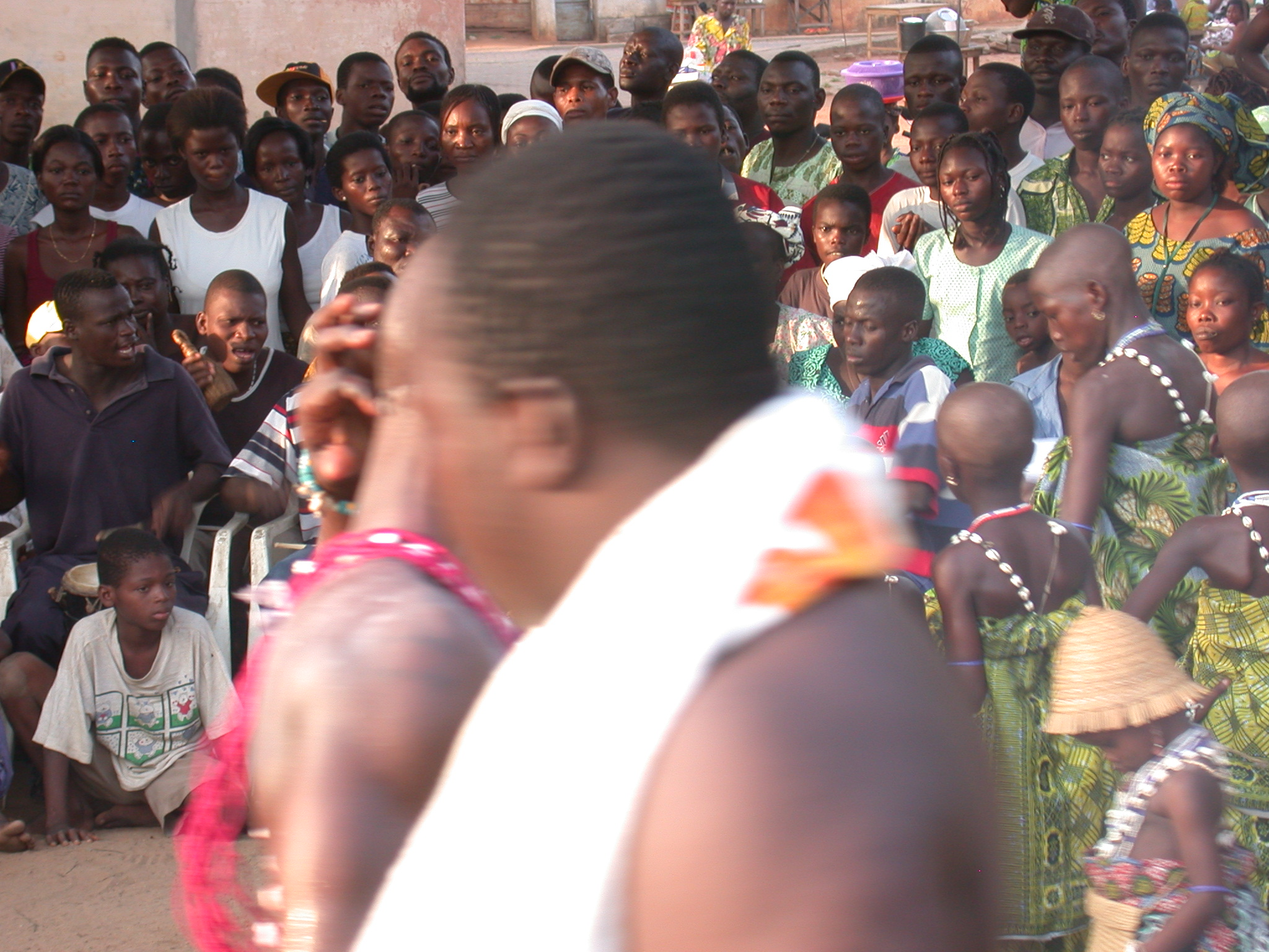 Crown Interaction, Vodun Ritual, Ouidah, Benin