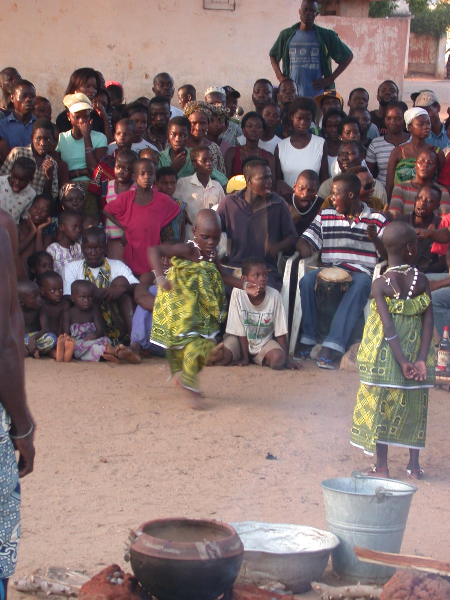 Young Initiates Dance, Vodun Ritual, Ouidah, Benin