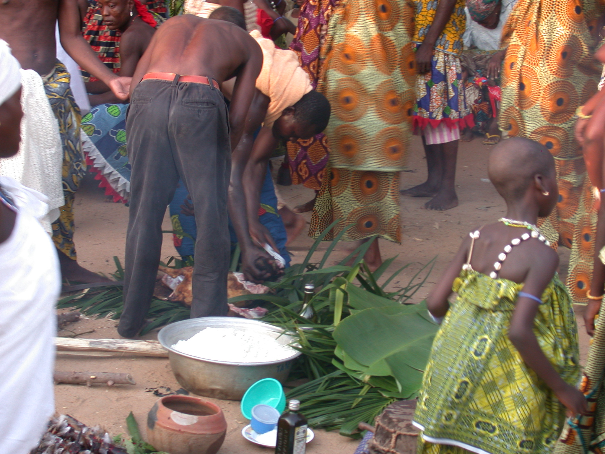 Further Preparation of the Sacrifice, Vodun Ritual, Ouidah, Benin