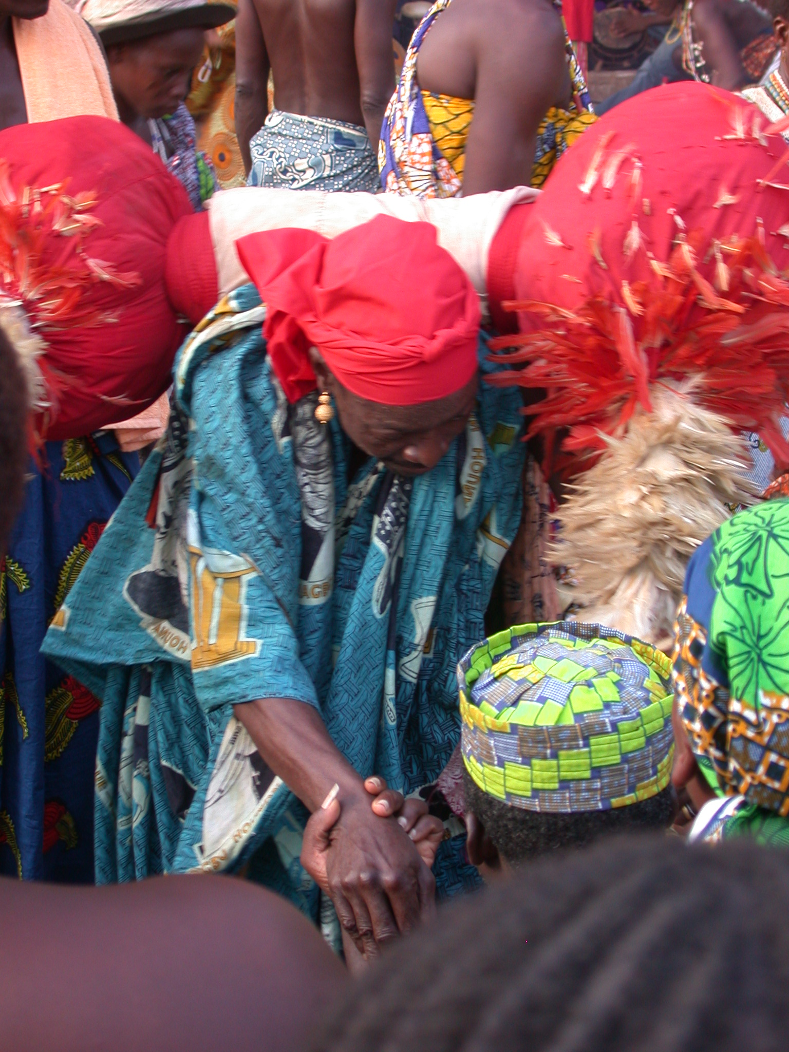 Bestowing Blessings, Vodun Ritual, Ouidah, Benin