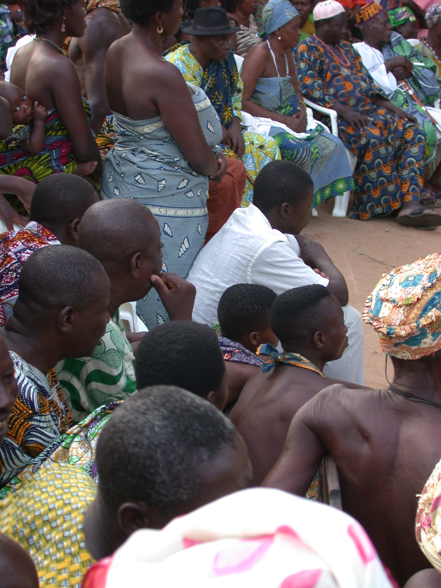 Observing the Dancers, Vodun Ritual, Ouidah, Benin
