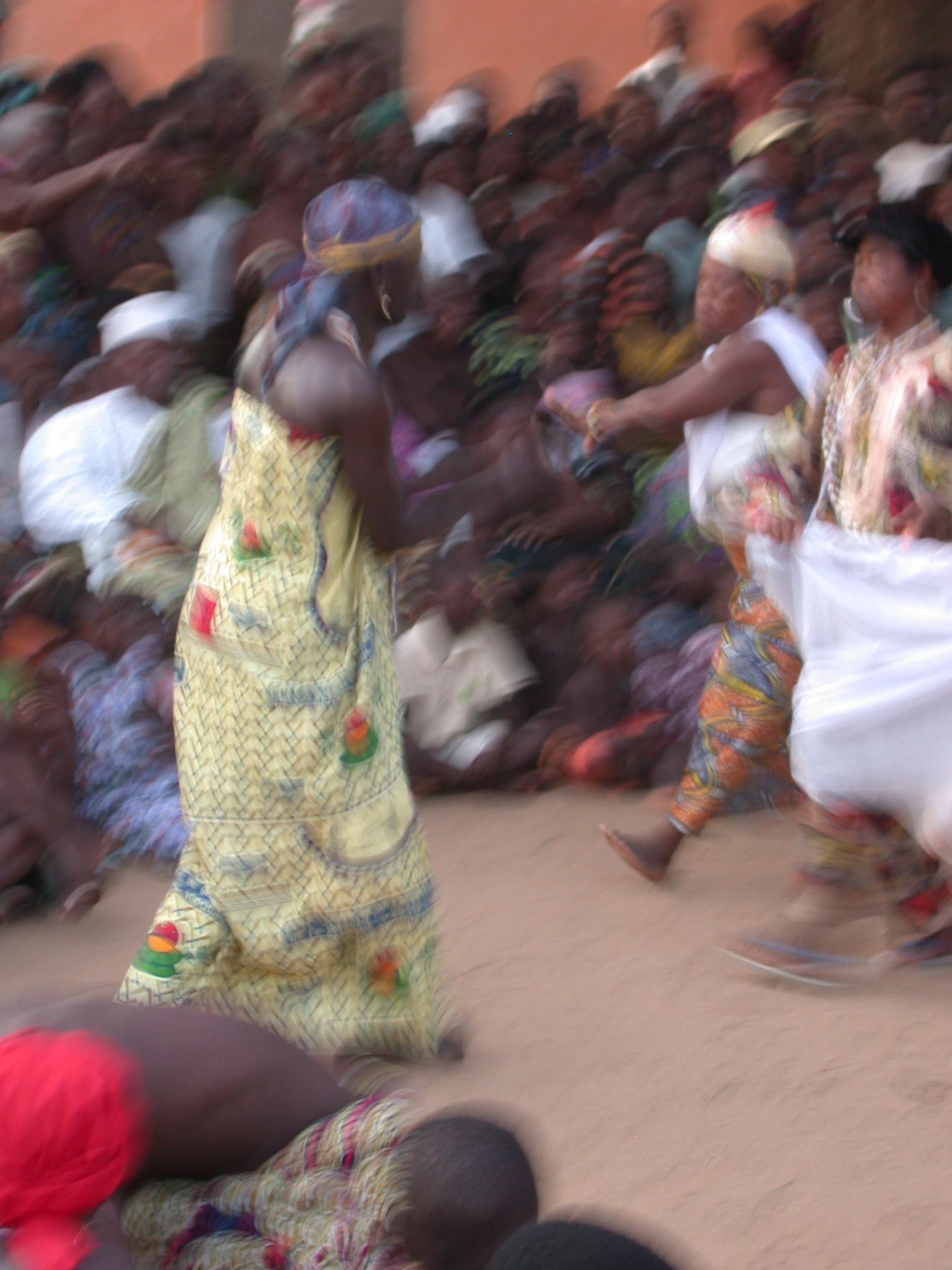 Assetive Dancing, Vodun Ritual, Ouidah, Benin