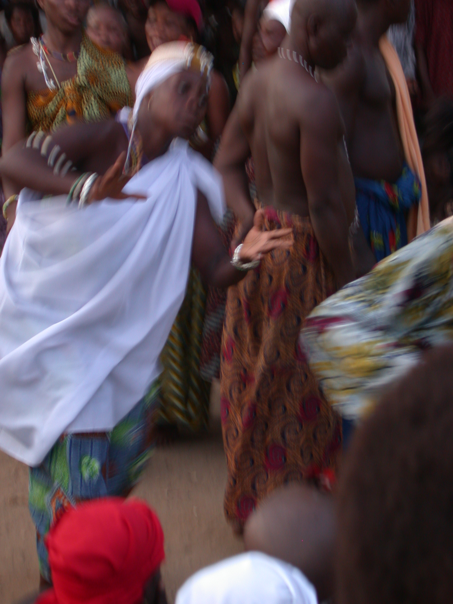 Deity Possession While Dancing, Vodun Ritual, Ouidah, Benin