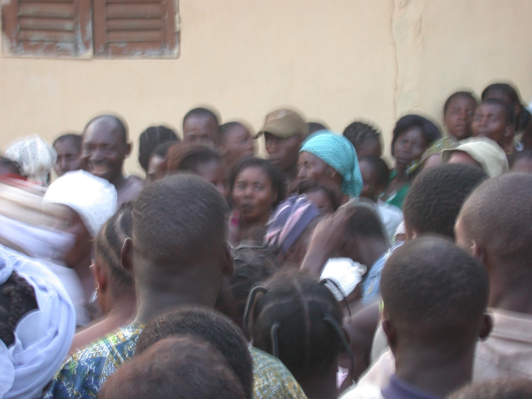 Watching Dancers Depart, Vodun Ritual, Ouidah, Benin