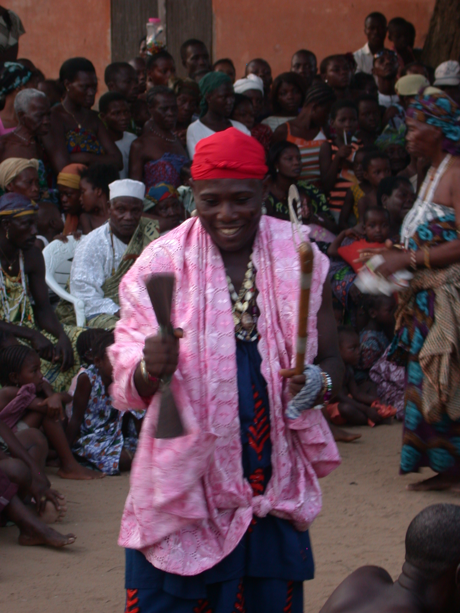 Gender-Divergent Male Dancer, Vodun Ritual, Ouidah, Benin