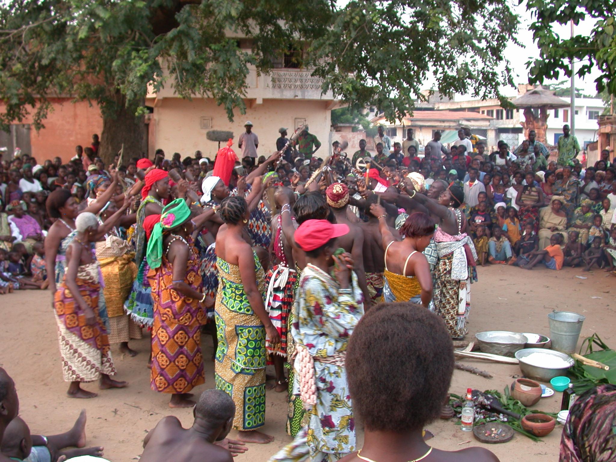 Dance for Thunder Divinity, Vodun Ritual, Ouidah, Benin