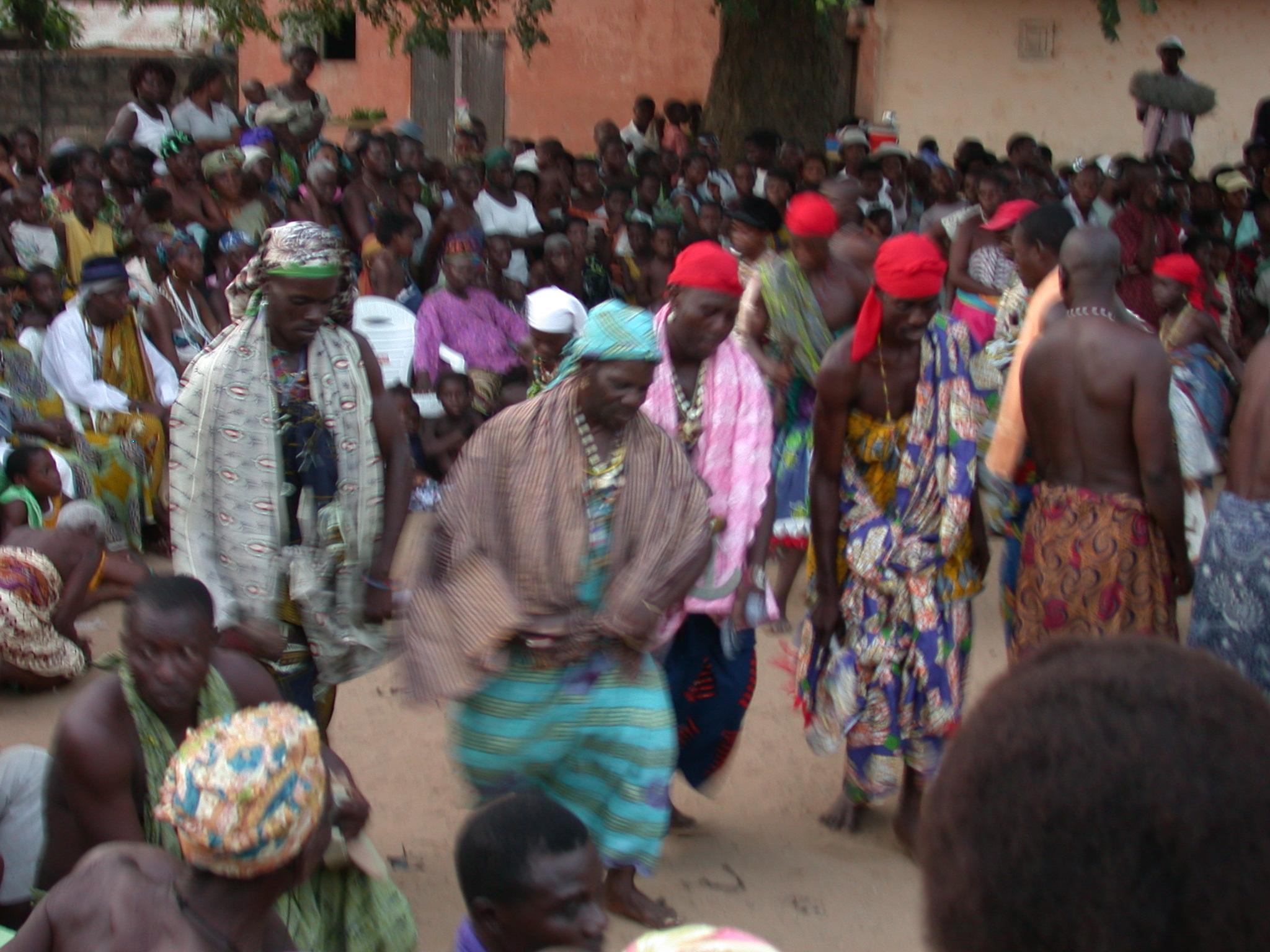 Dancing, Vodun Ritual, Ouidah, Benin