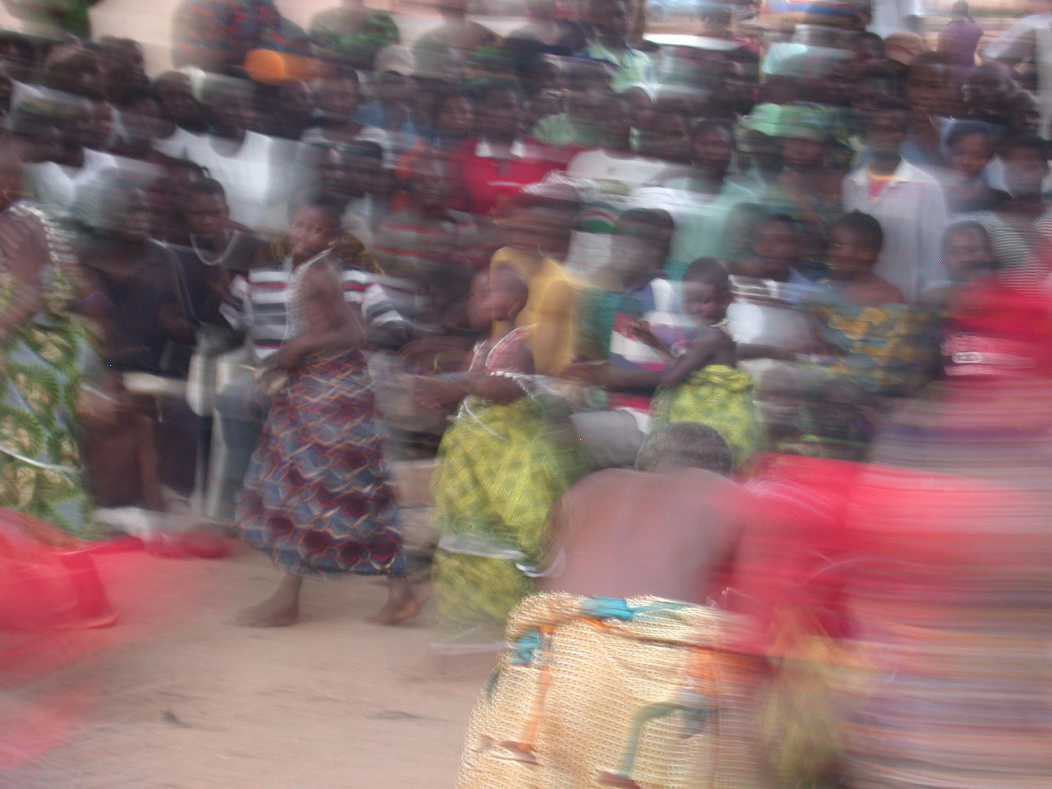 Dancing Blur, Vodun Ritual, Ouidah, Benin