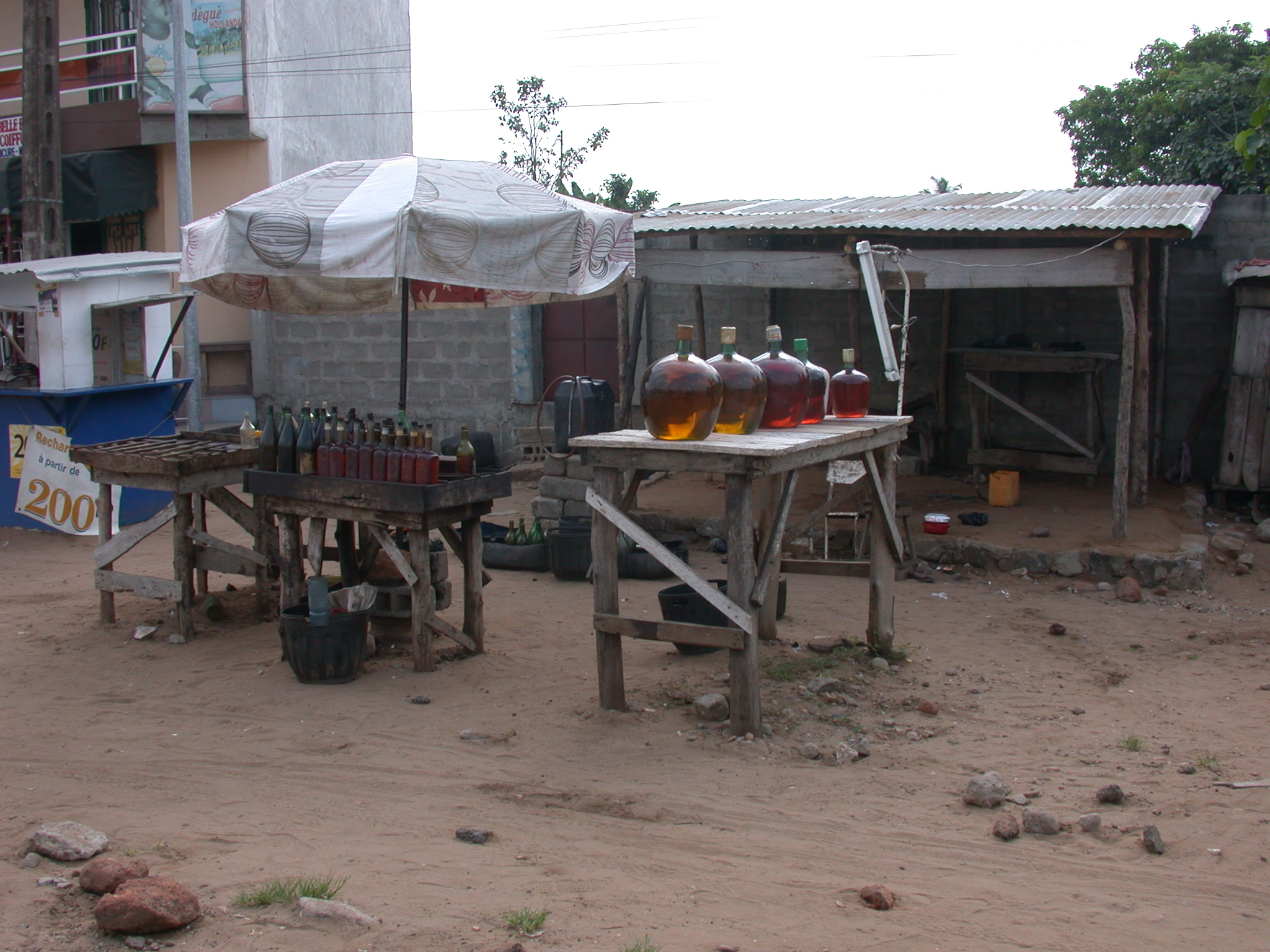 Gasoline Station on Route From Ouida to Cotonou, Benin