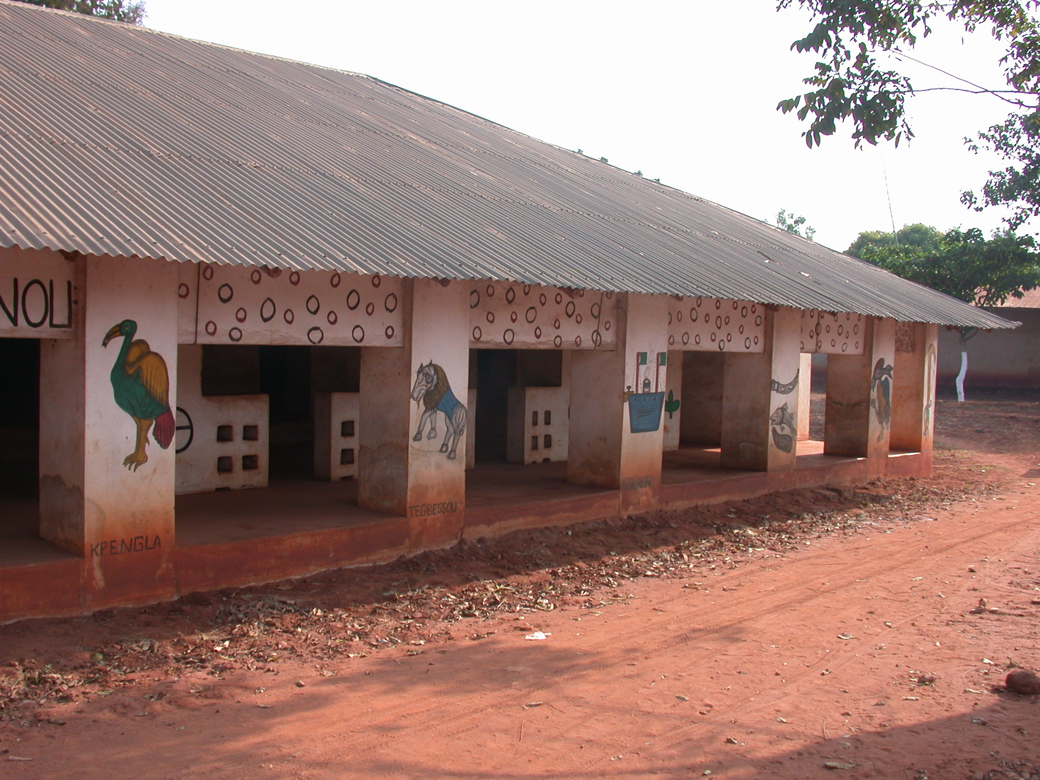 Right Side of Zomadonou Akaba Temple With Symbols of  Kpengla, Tegbessou,  and Agadja, Abomey, Benin