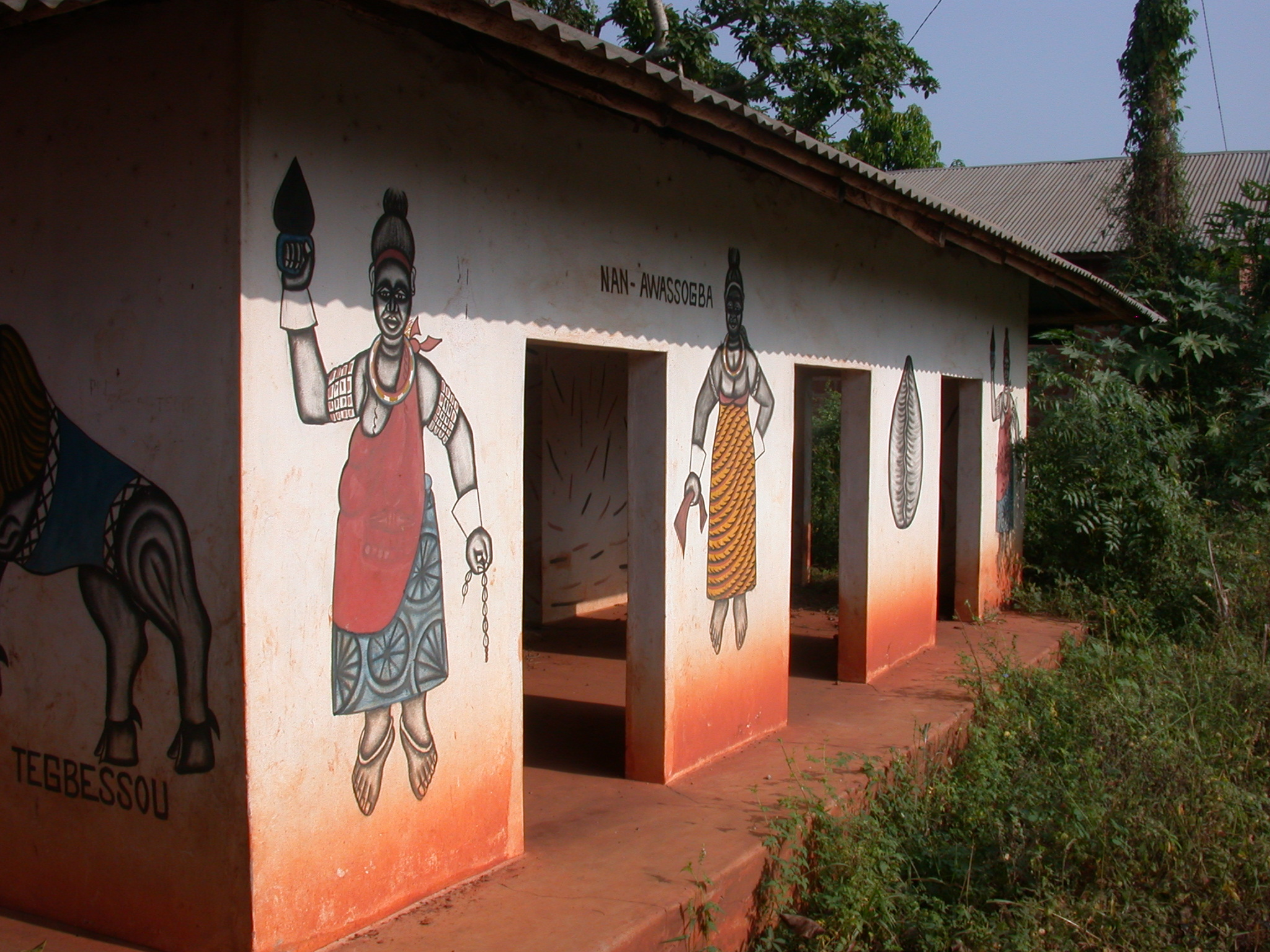 Right Side of Zomadonou Akaba Temple With Symbol of  Nan-Awassogba, Abomey, Benin