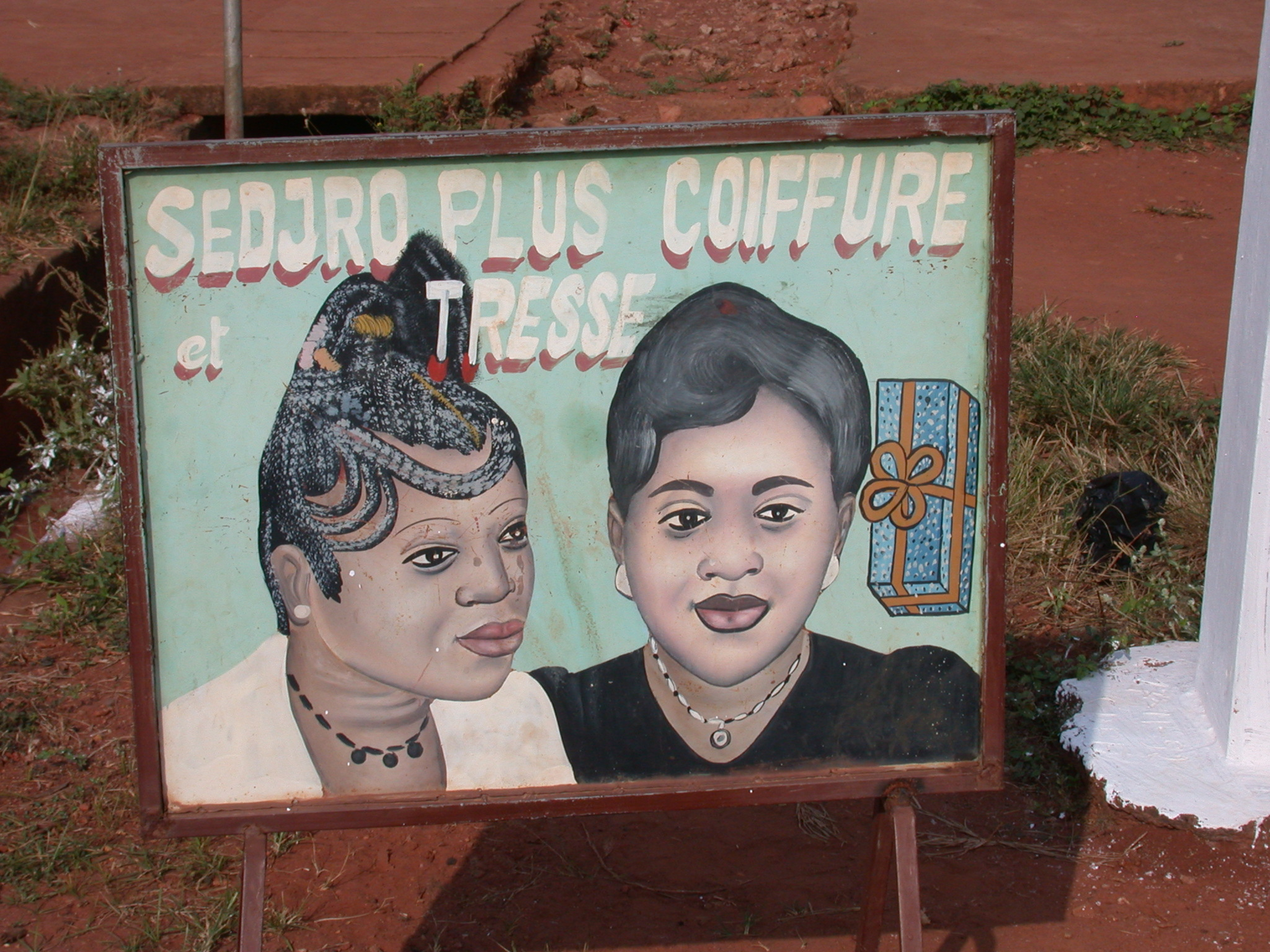 Sign for Hair Salon, Abomey, Benin