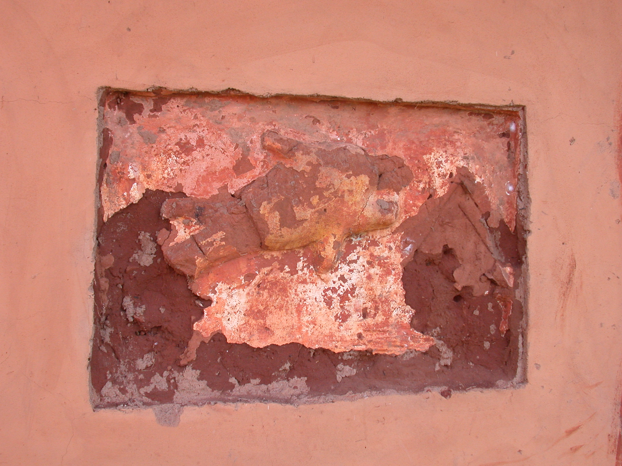 Damaged Wall Symbol, Palace of King Houegbadja, Abomey, Benin