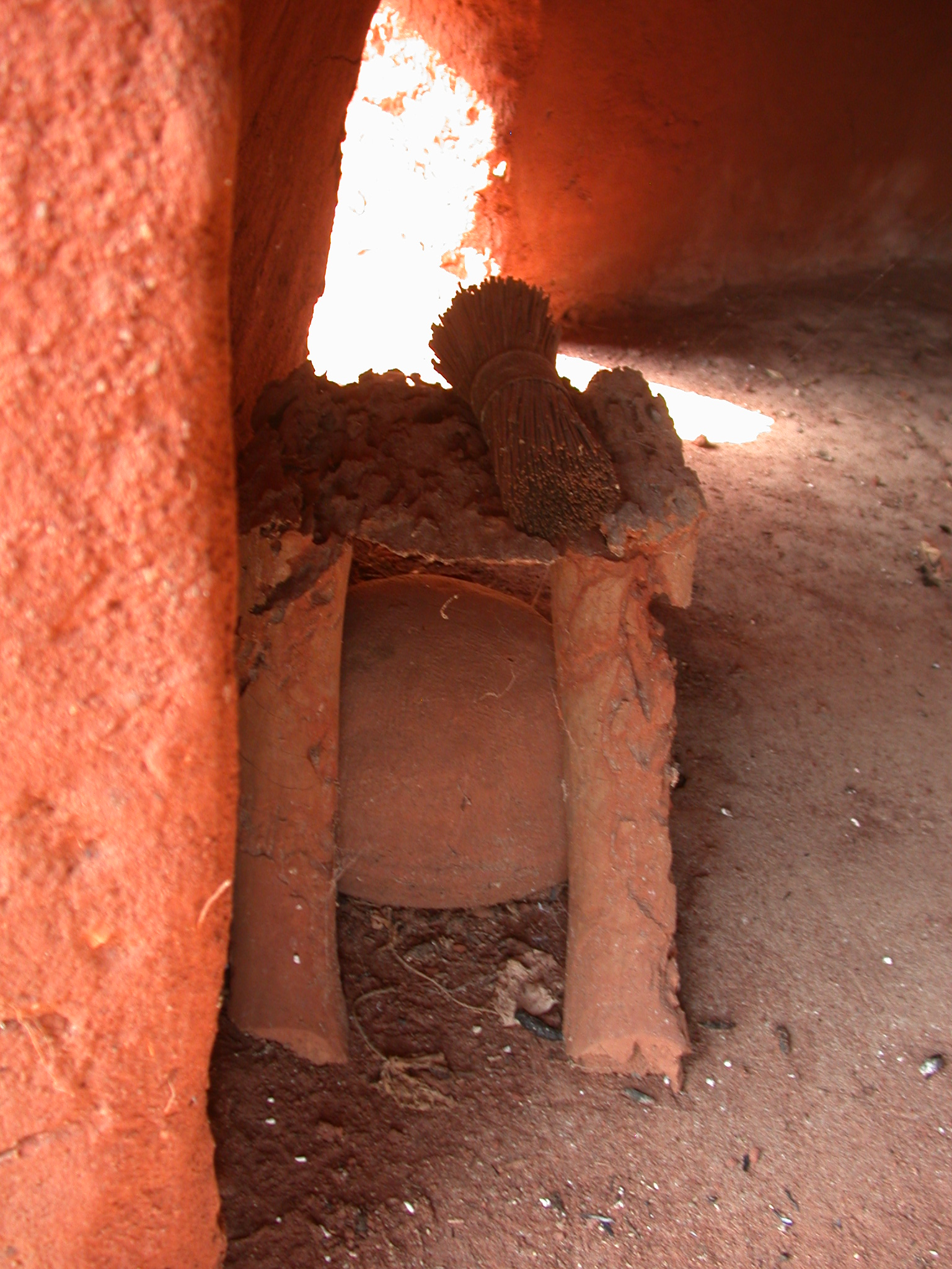 Small Altar, Interior of Reconstructed Hut, Palace of King Houegbadja, Abomey, Benin