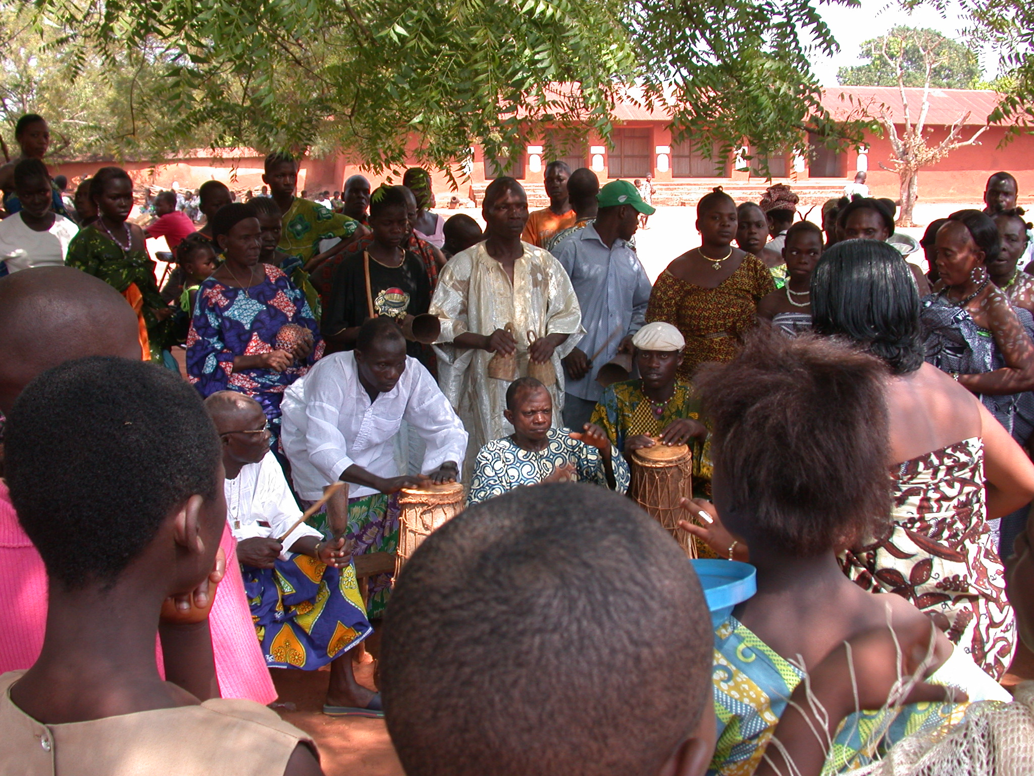 Drummers at Danxome Festival Celebrations at Palace Grounds, Abomey History Museum, Abomey, Benin