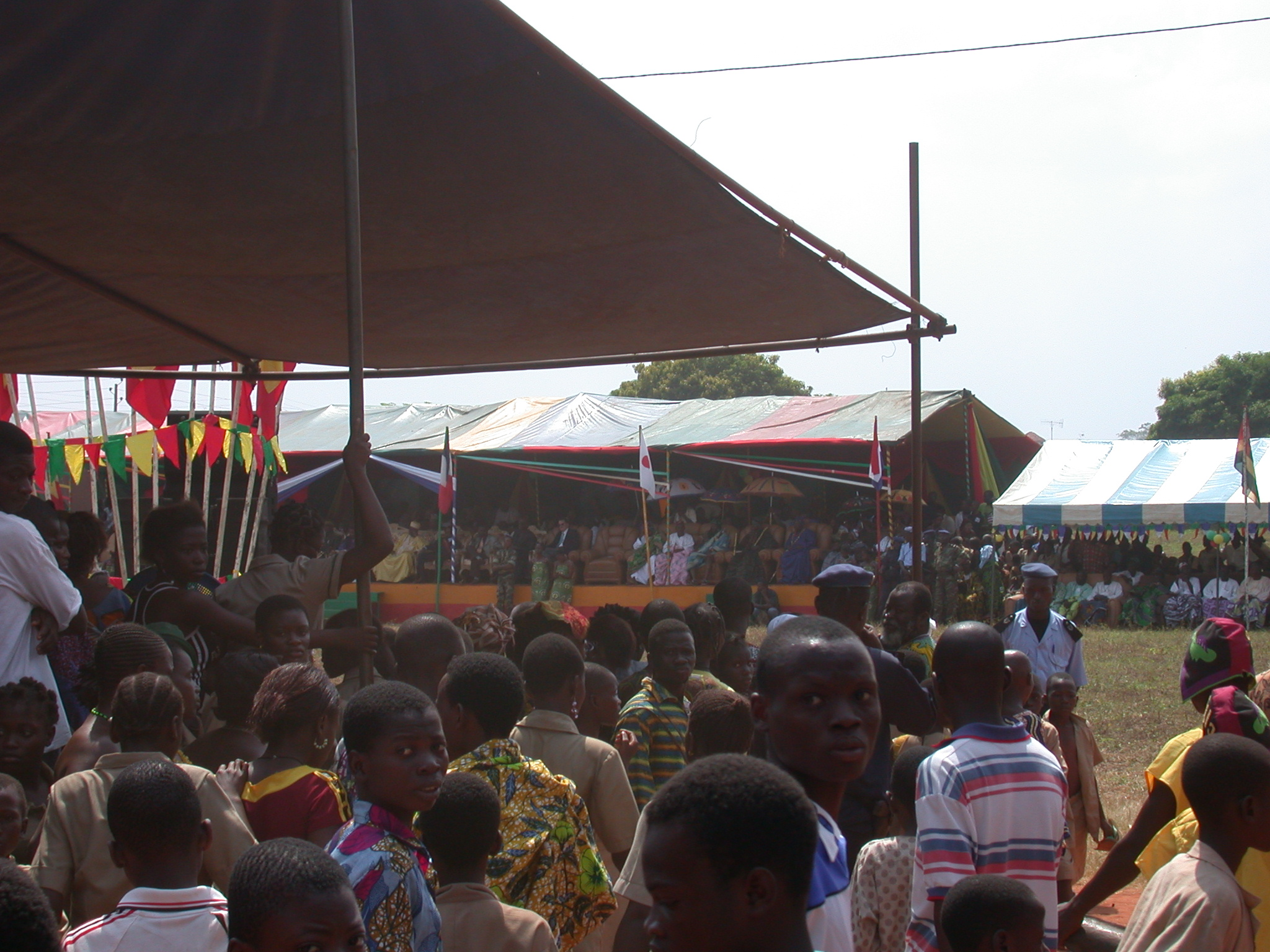Bleachers for Officials and Audience, Danxome Festival Celebrations at Palace Grounds, Abomey History Museum, Abomey, Benin