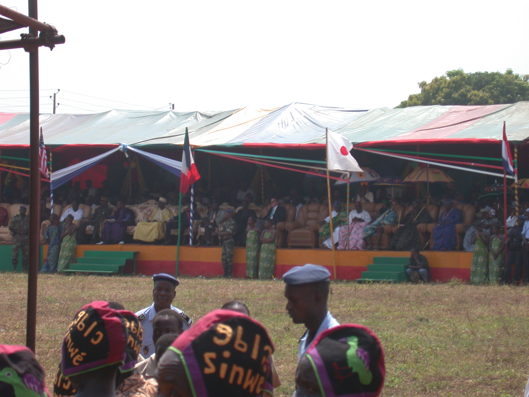 Bleachers for Officials, Danxome Festival Celebrations at Palace Grounds, Abomey History Museum, Abomey, Benin