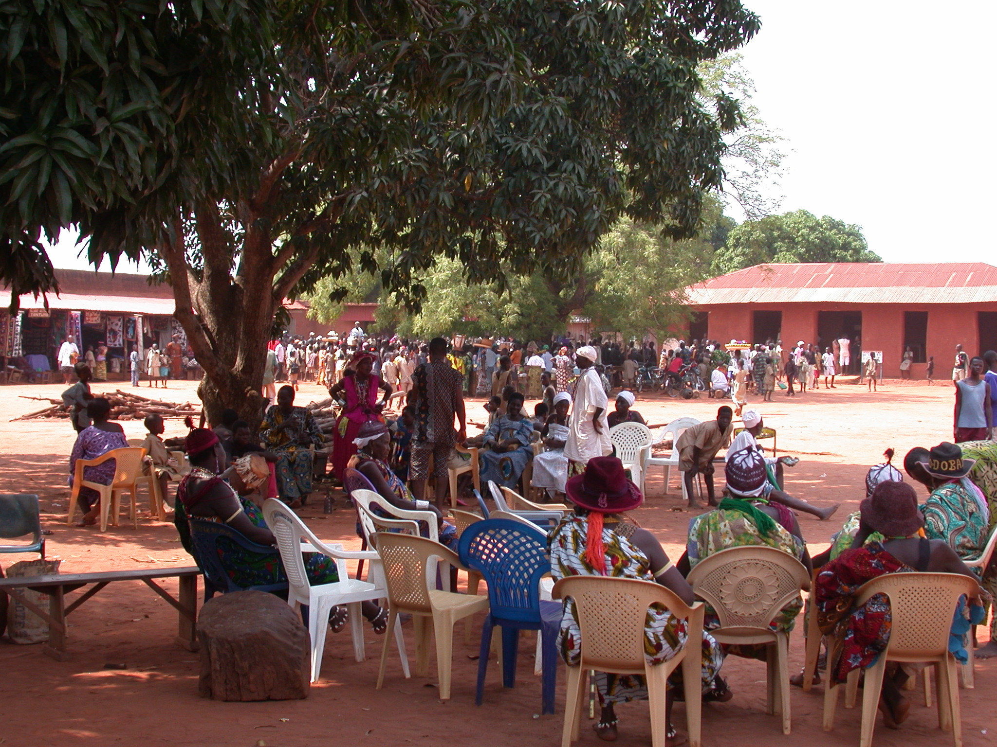 Moments of Relaxation, Danxome Festival Celebrations at Palace Grounds, Abomey History Museum, Abomey, Benin